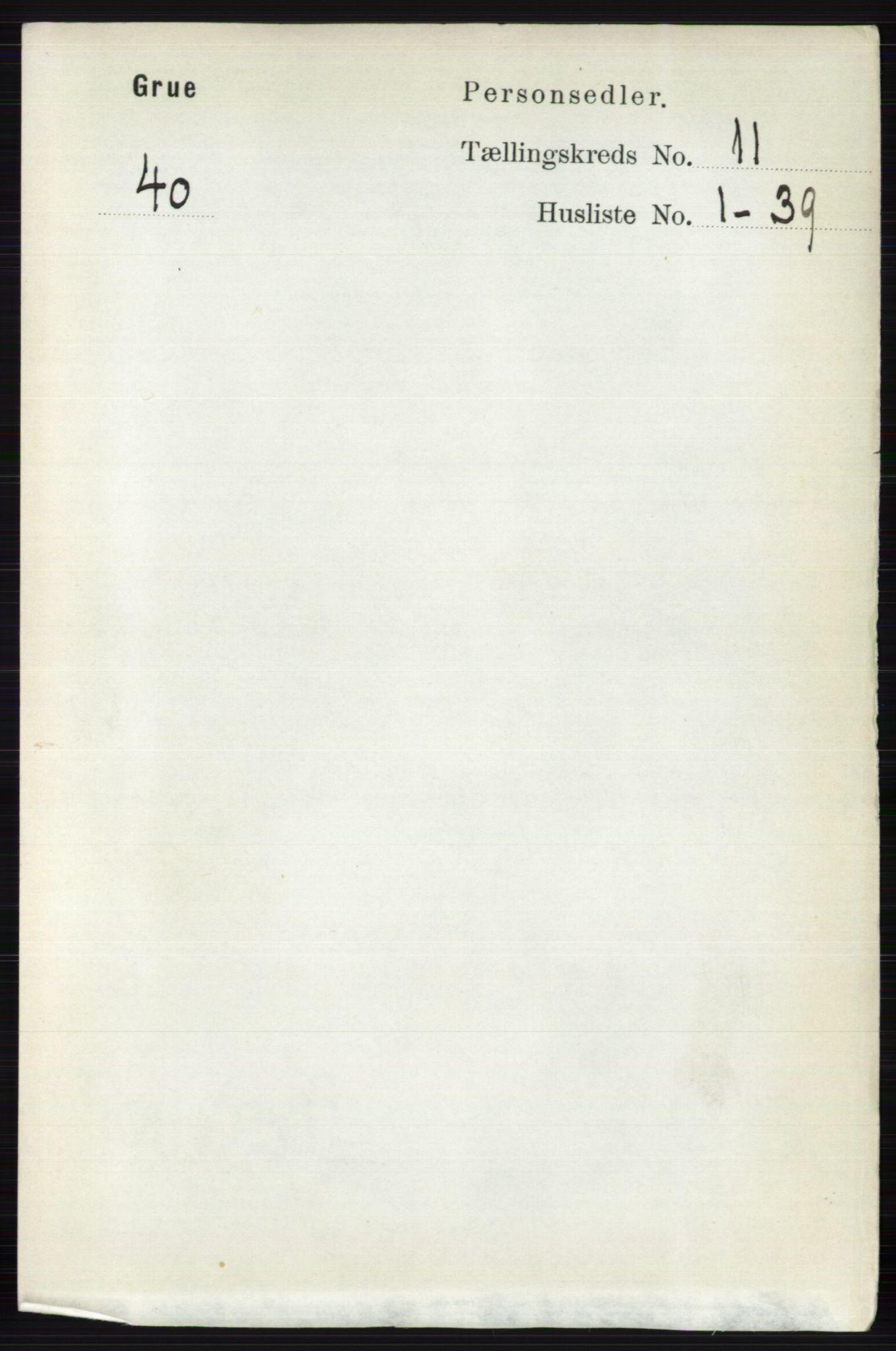 RA, Folketelling 1891 for 0423 Grue herred, 1891, s. 5856