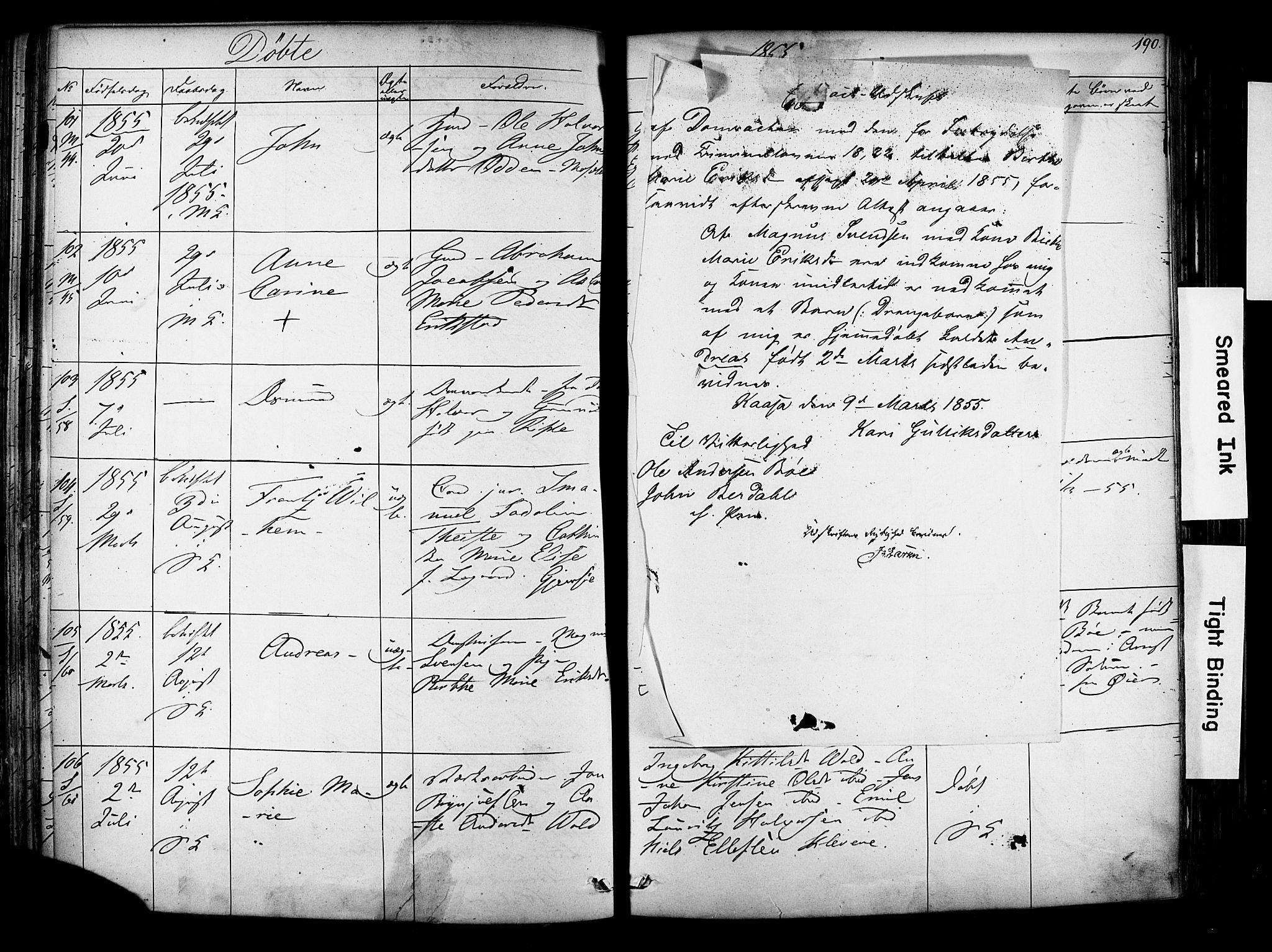 SAKO, Solum kirkebøker, F/Fa/L0006: Ministerialbok nr. I 6, 1844-1855, s. 190