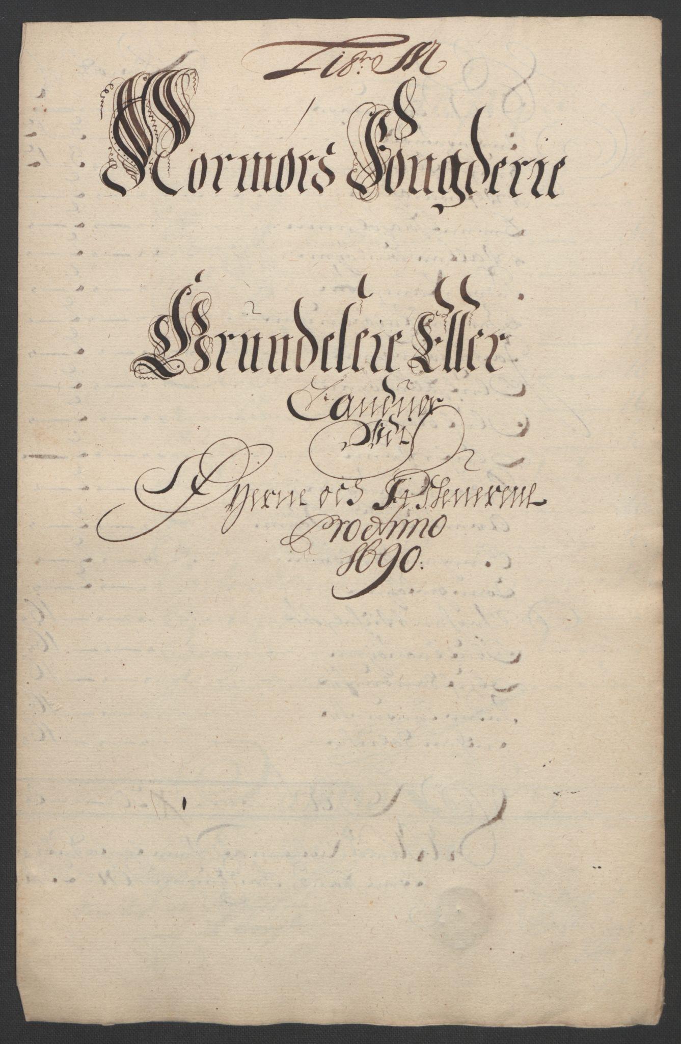 RA, Rentekammeret inntil 1814, Reviderte regnskaper, Fogderegnskap, R56/L3734: Fogderegnskap Nordmøre, 1690-1691, s. 177