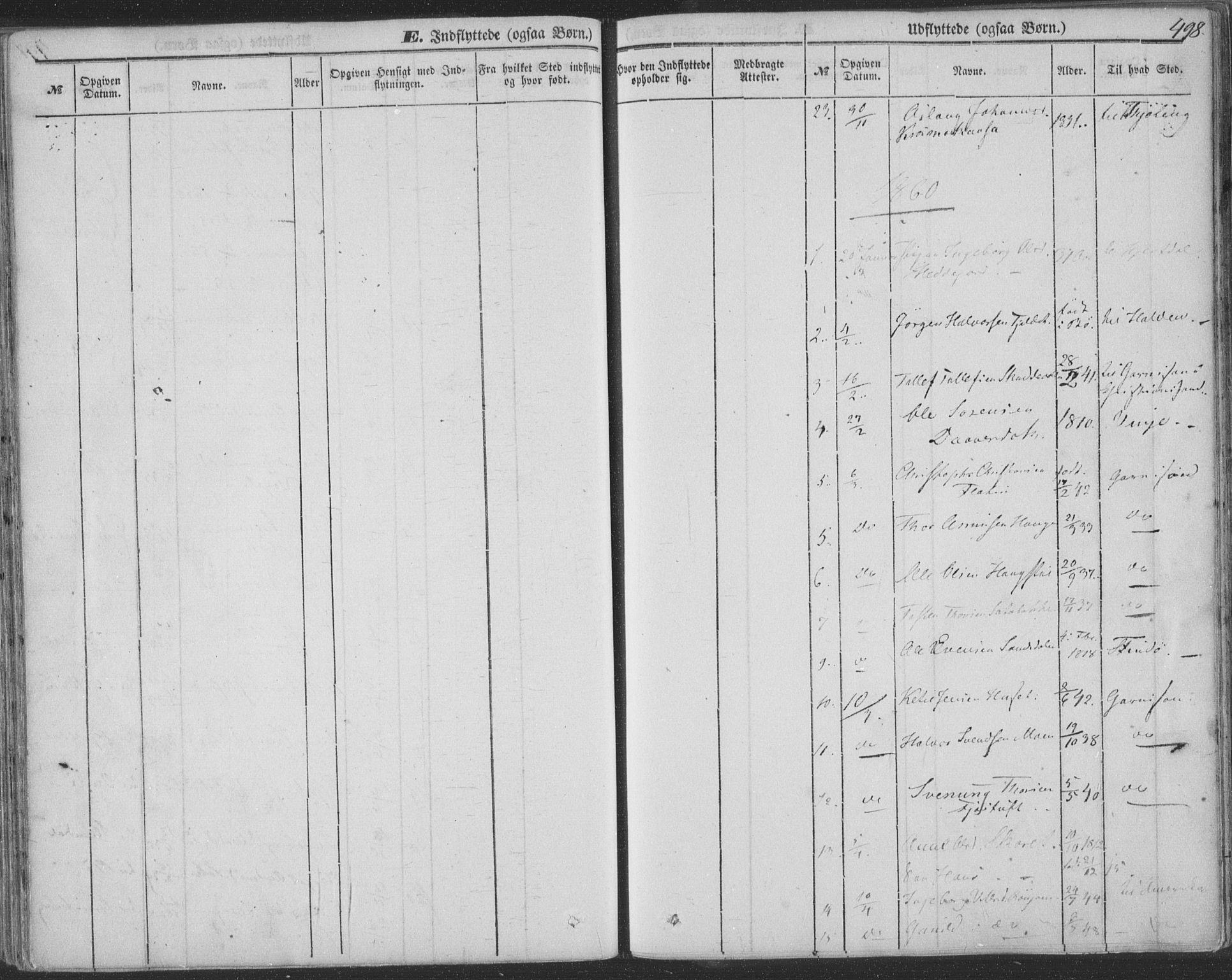 SAKO, Seljord kirkebøker, F/Fa/L012b: Ministerialbok nr. I 12B, 1850-1865, s. 498