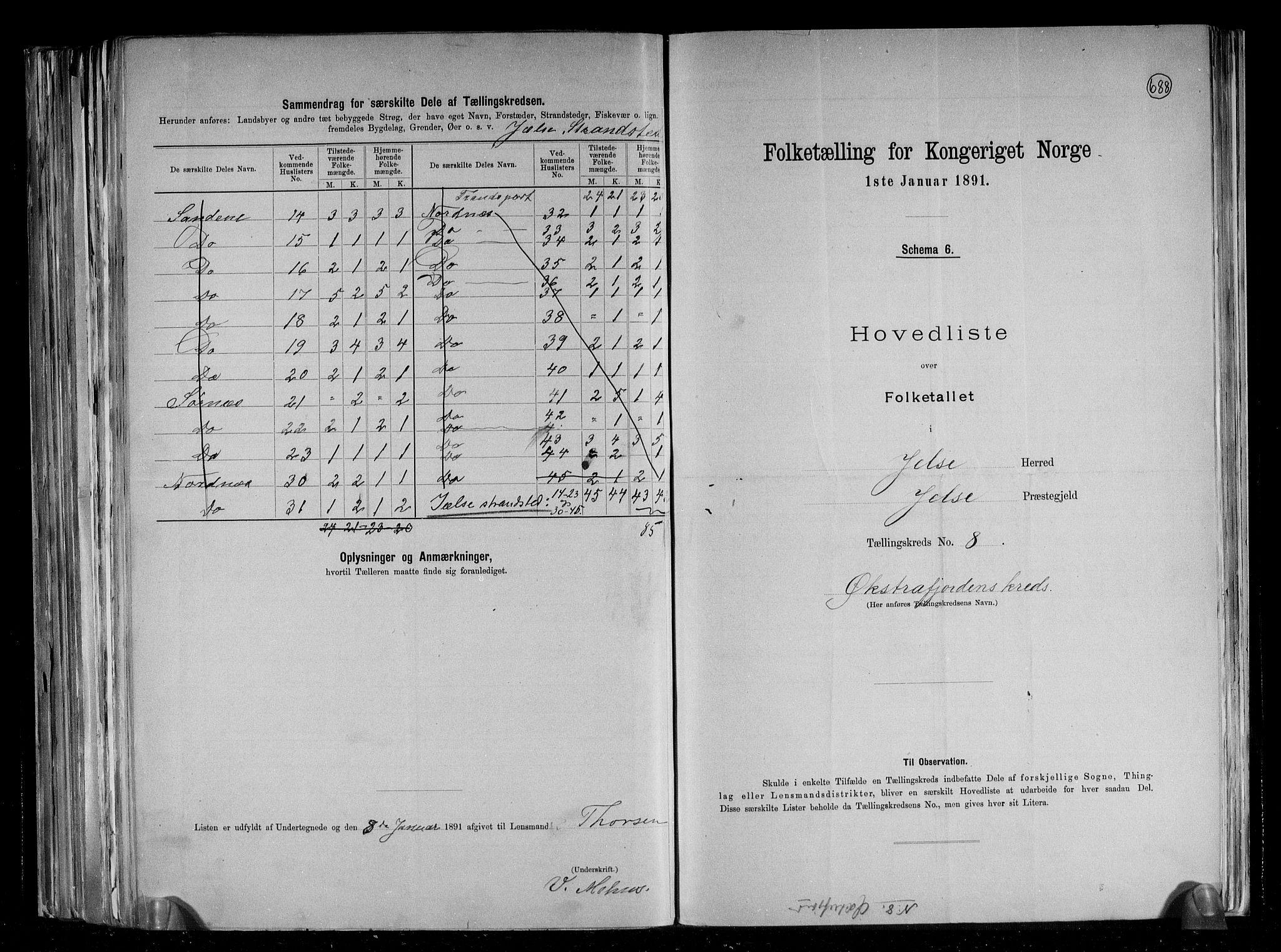 RA, Folketelling 1891 for 1138 Jelsa herred, 1891, s. 20