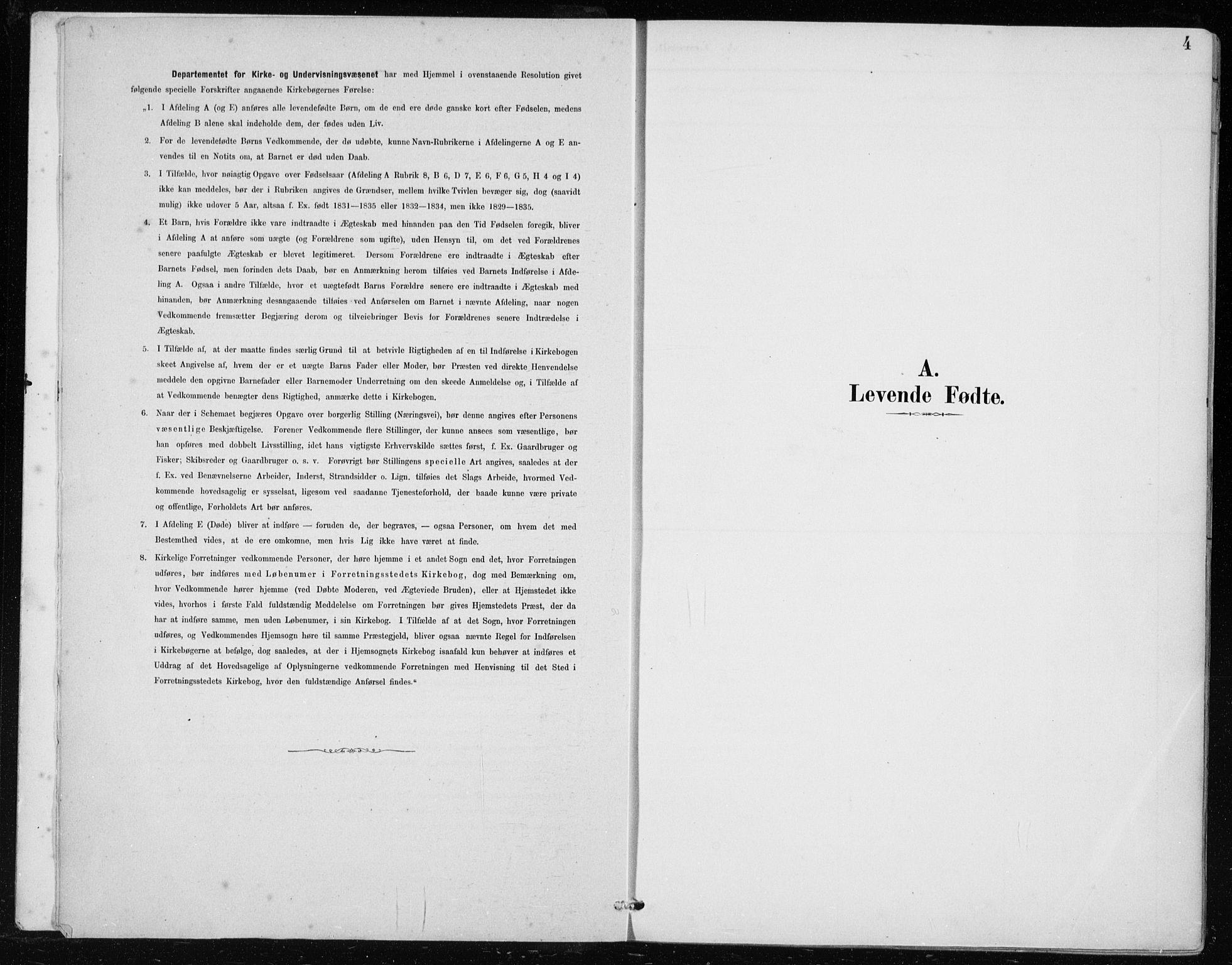 SAB, Lindås Sokneprestembete, H/Haa: Ministerialbok nr. F  1, 1886-1897, s. 4