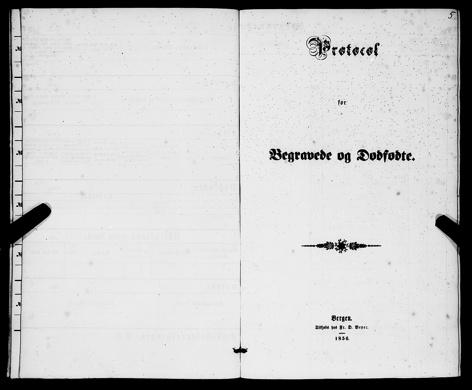 SAB, Korskirken Sokneprestembete, H/Haa/L0045: Ministerialbok nr. E 3, 1863-1875, s. 5