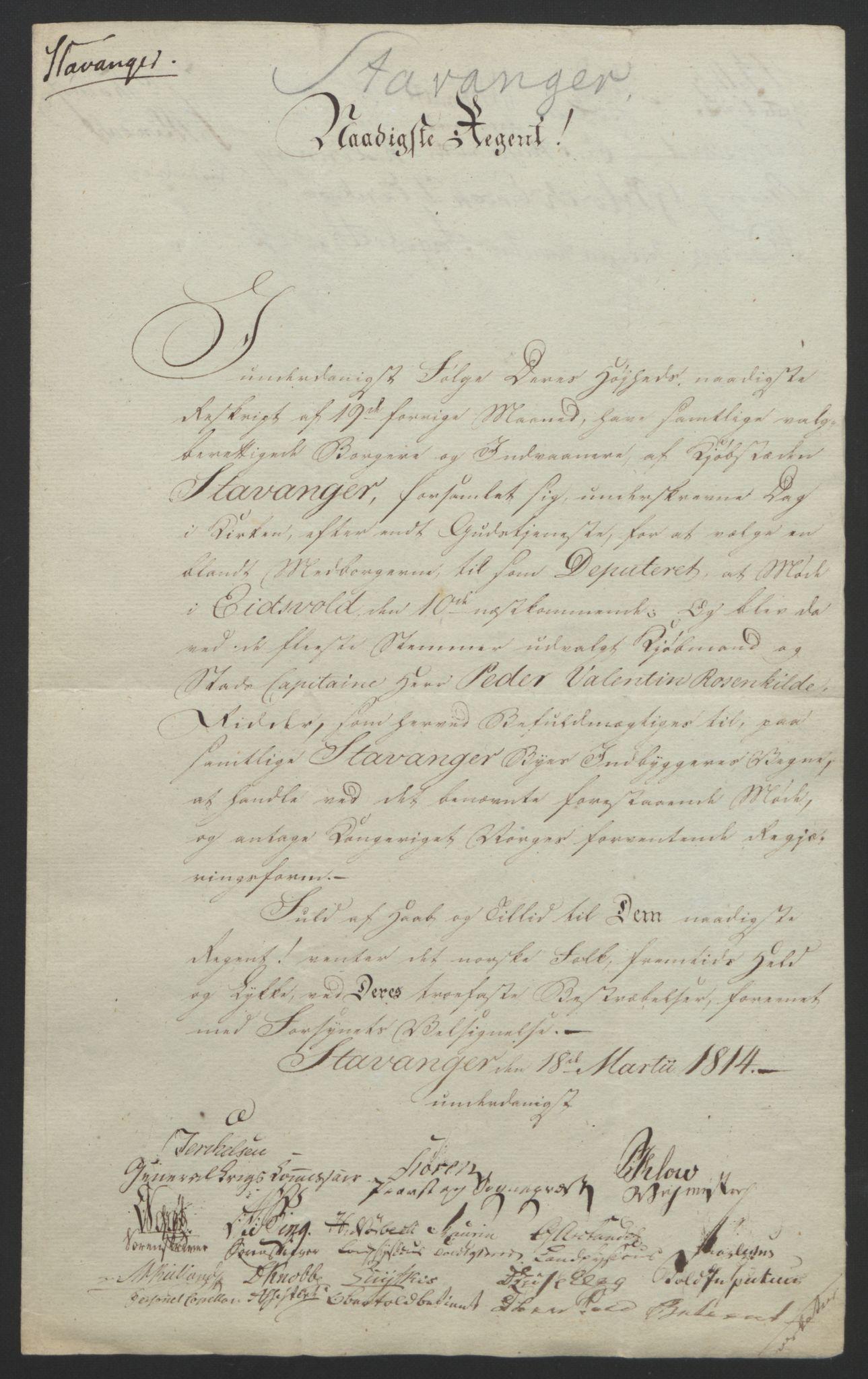 RA, Statsrådssekretariatet, D/Db/L0007: Fullmakter for Eidsvollsrepresentantene i 1814. , 1814, s. 62