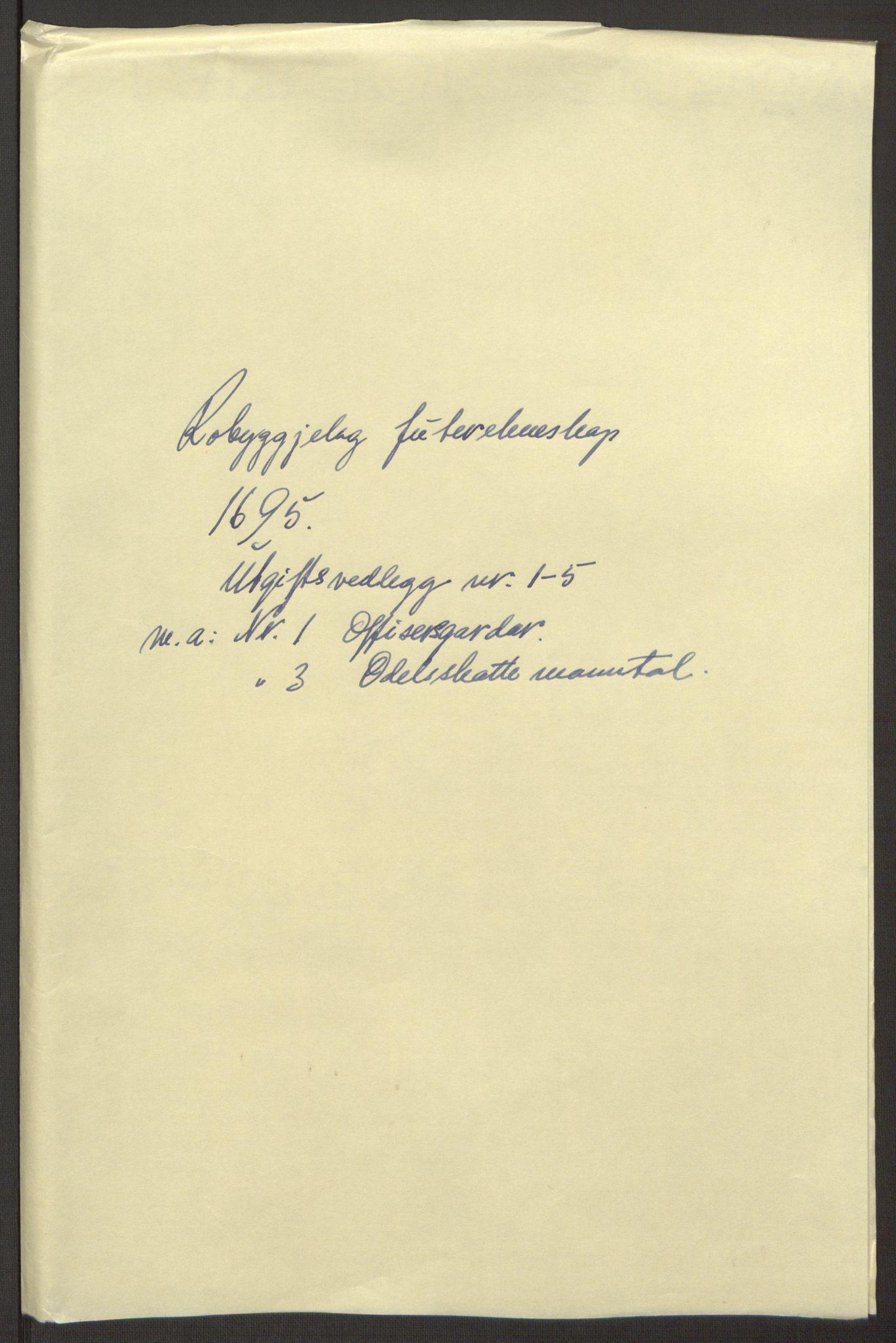 RA, Rentekammeret inntil 1814, Reviderte regnskaper, Fogderegnskap, R40/L2444: Fogderegnskap Råbyggelag, 1693-1696, s. 245