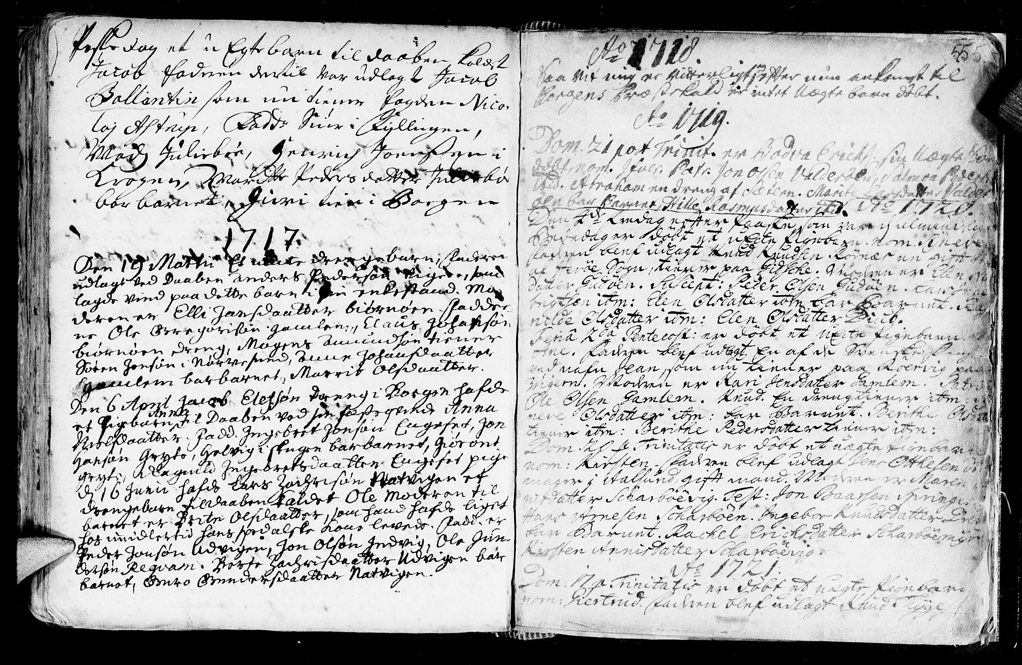 SAT, Ministerialprotokoller, klokkerbøker og fødselsregistre - Møre og Romsdal, 528/L0390: Ministerialbok nr. 528A01, 1698-1739, s. 554-555