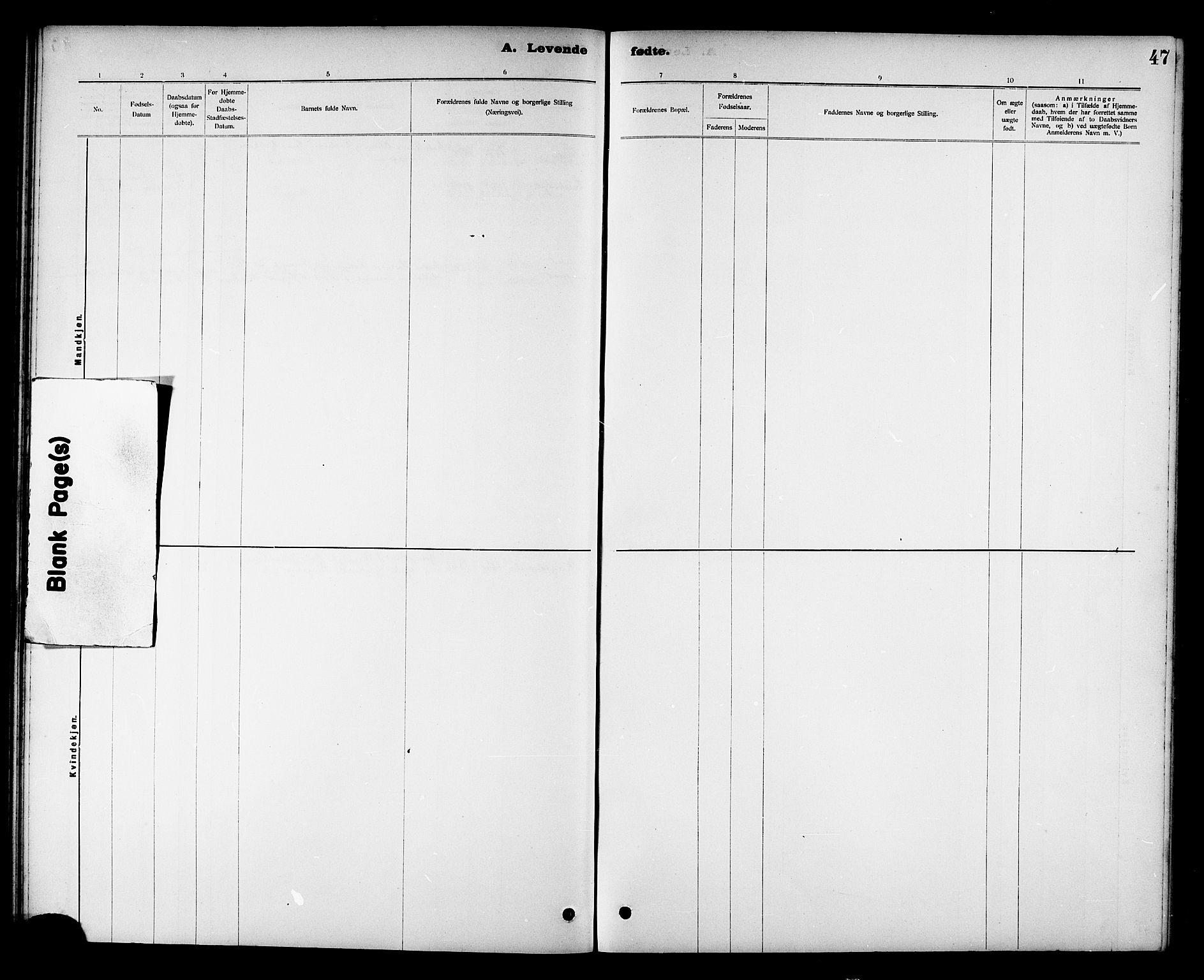 SAT, Ministerialprotokoller, klokkerbøker og fødselsregistre - Nord-Trøndelag, 780/L0652: Klokkerbok nr. 780C04, 1899-1911, s. 47