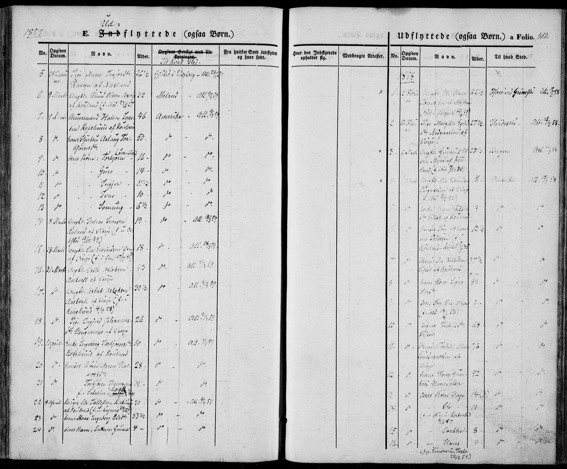 SAKO, Vinje kirkebøker, F/Fa/L0004: Ministerialbok nr. I 4, 1843-1869, s. 412