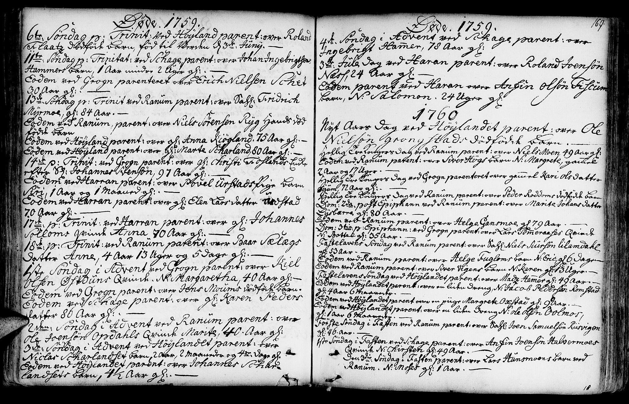 SAT, Ministerialprotokoller, klokkerbøker og fødselsregistre - Nord-Trøndelag, 764/L0542: Ministerialbok nr. 764A02, 1748-1779, s. 169