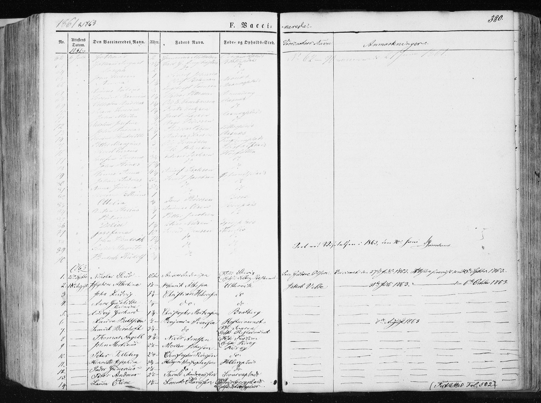 SAT, Ministerialprotokoller, klokkerbøker og fødselsregistre - Nord-Trøndelag, 741/L0393: Ministerialbok nr. 741A07, 1849-1863, s. 380