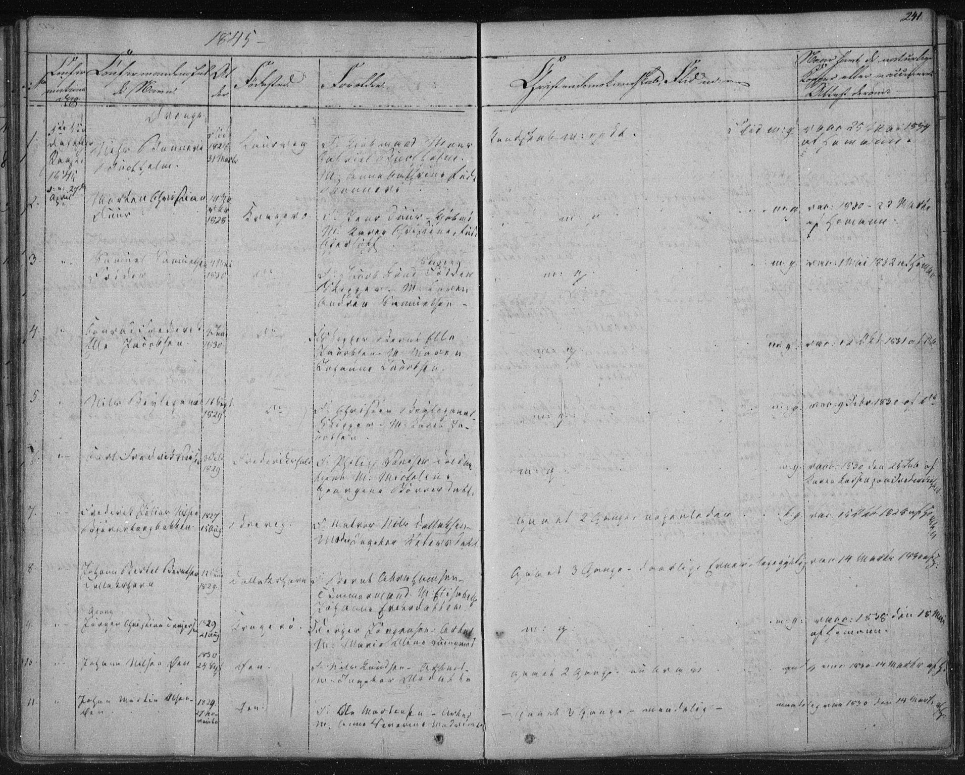 SAKO, Kragerø kirkebøker, F/Fa/L0005: Ministerialbok nr. 5, 1832-1847, s. 241