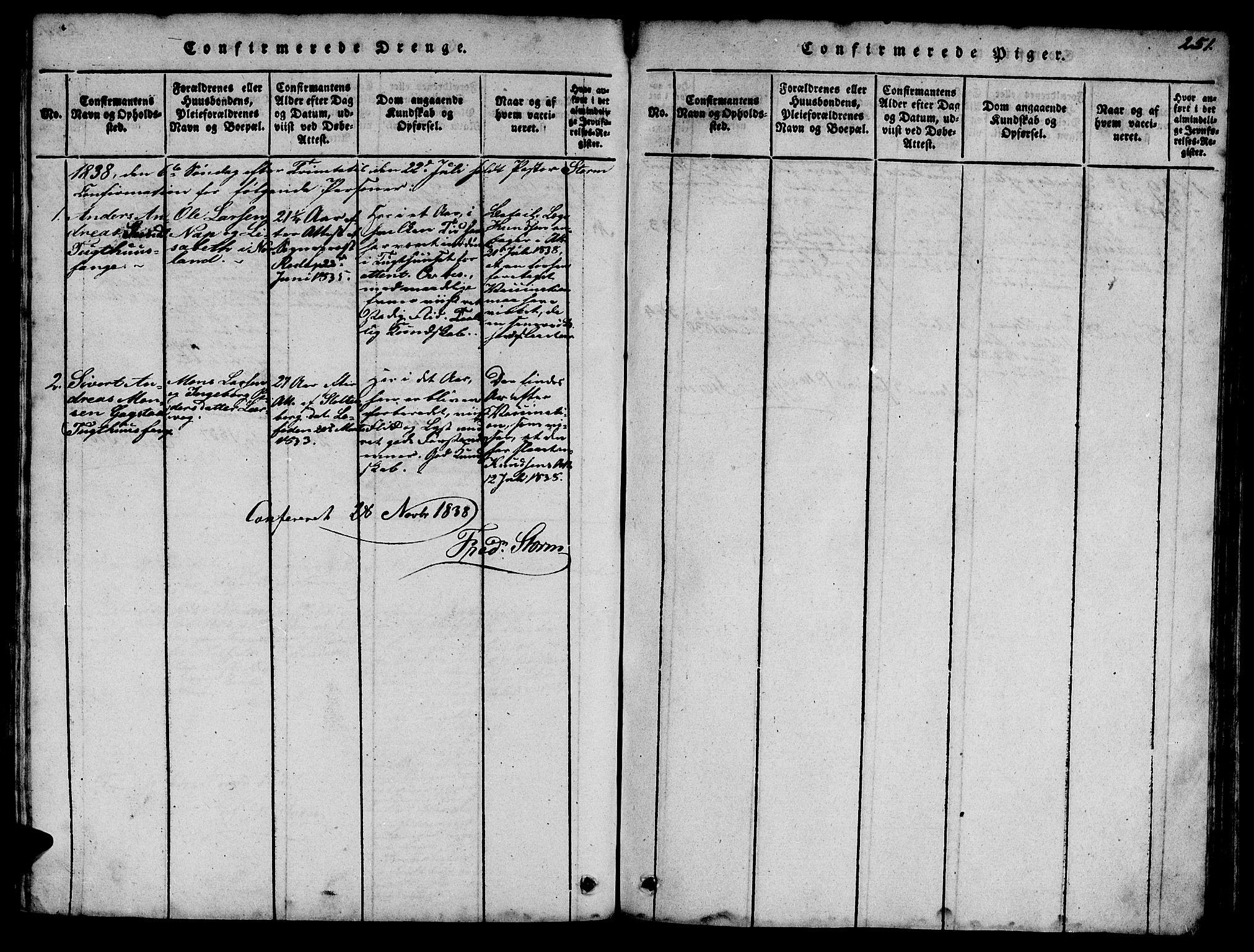 SAT, Ministerialprotokoller, klokkerbøker og fødselsregistre - Sør-Trøndelag, 623/L0478: Klokkerbok nr. 623C01, 1815-1873, s. 251