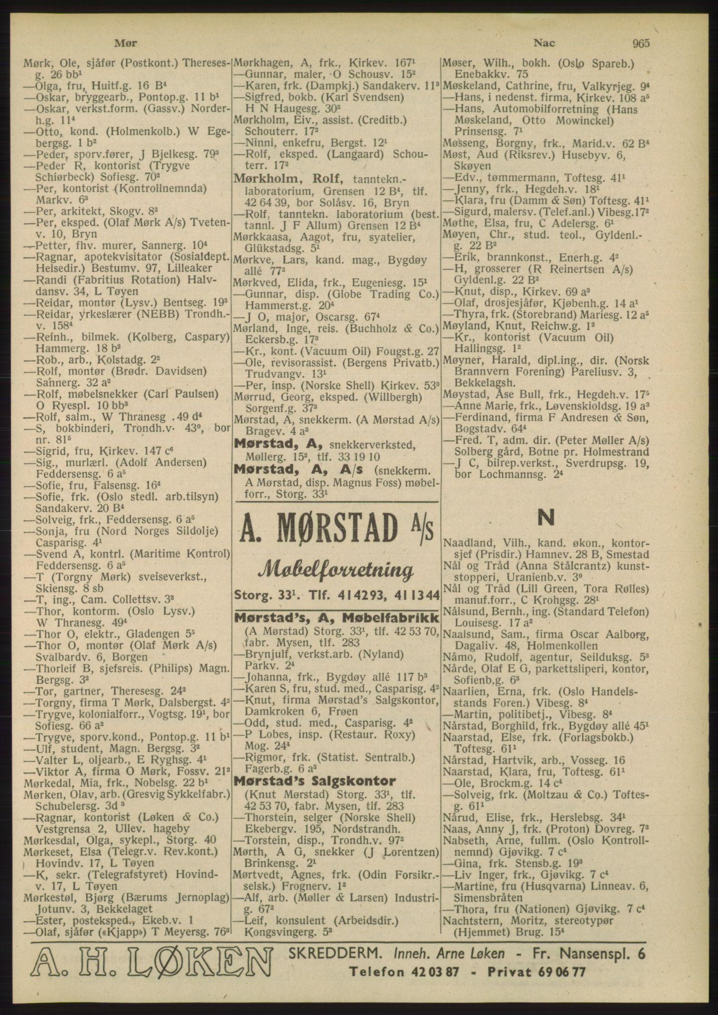 PUBL, Kristiania/Oslo adressebok, 1948, s. 965