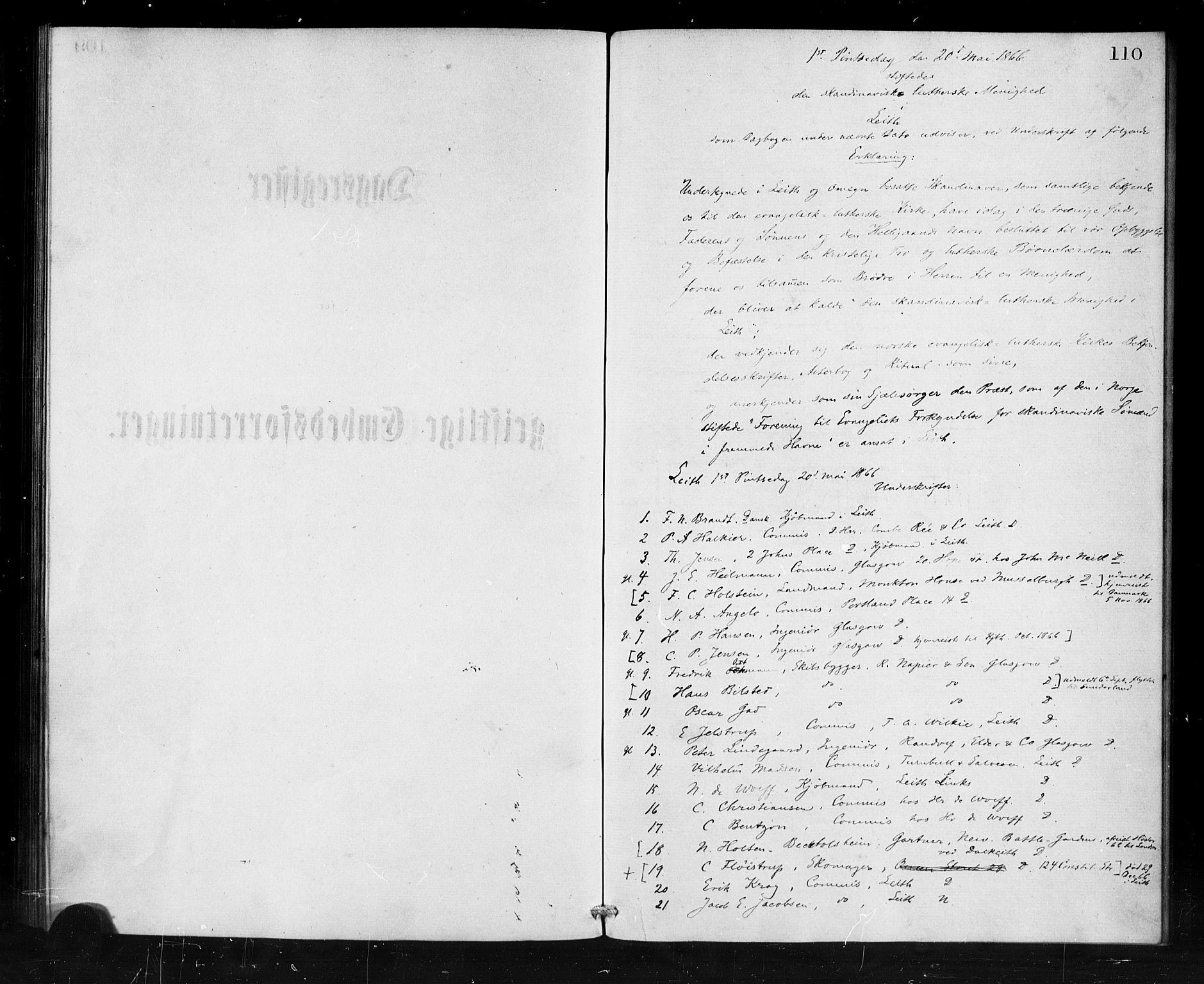 SAB, Den Norske Sjømannsmisjon i utlandet*, Ministerialbok nr. A 1, 1865-1880, s. 110