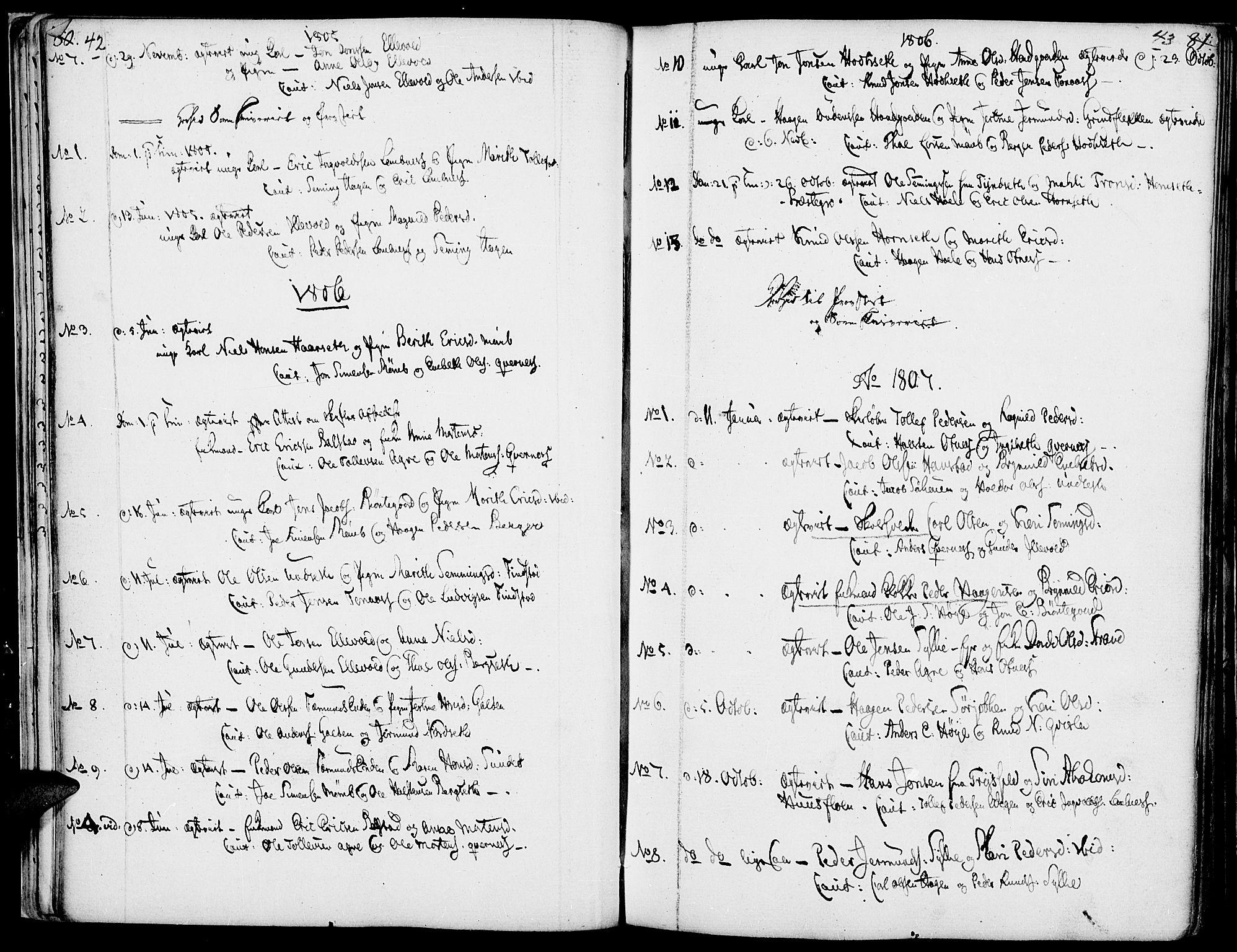 SAH, Rendalen prestekontor, H/Ha/Haa/L0002: Ministerialbok nr. 2, 1788-1814, s. 42-43