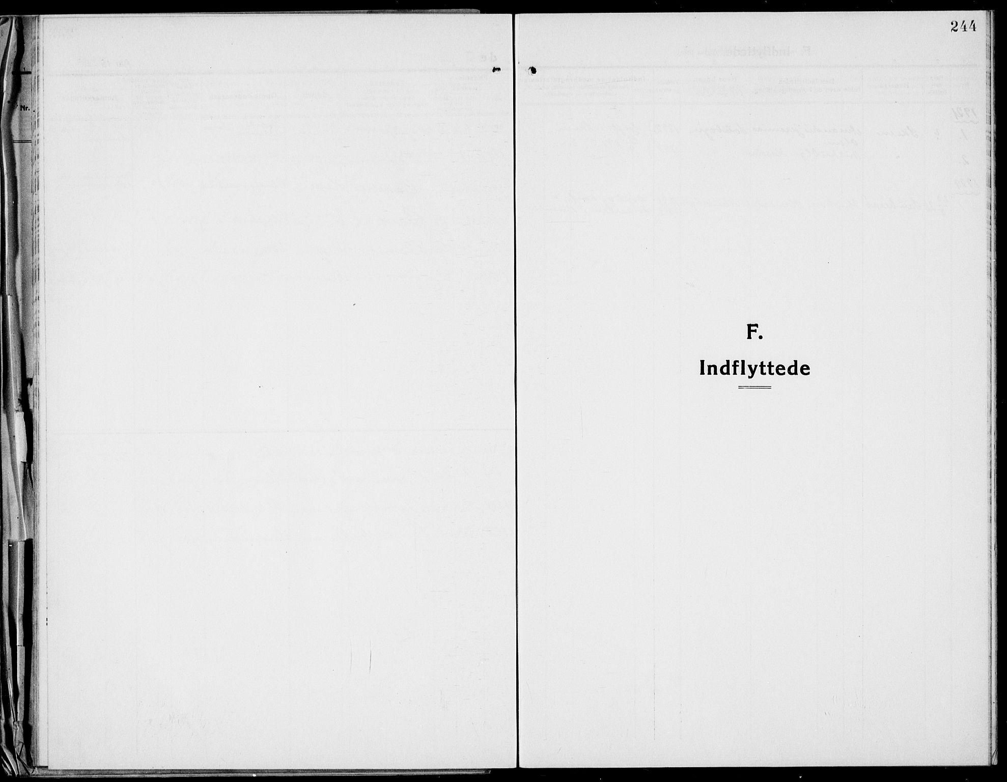 SAKO, Bamble kirkebøker, G/Ga/L0011: Klokkerbok nr. I 11, 1920-1935, s. 244