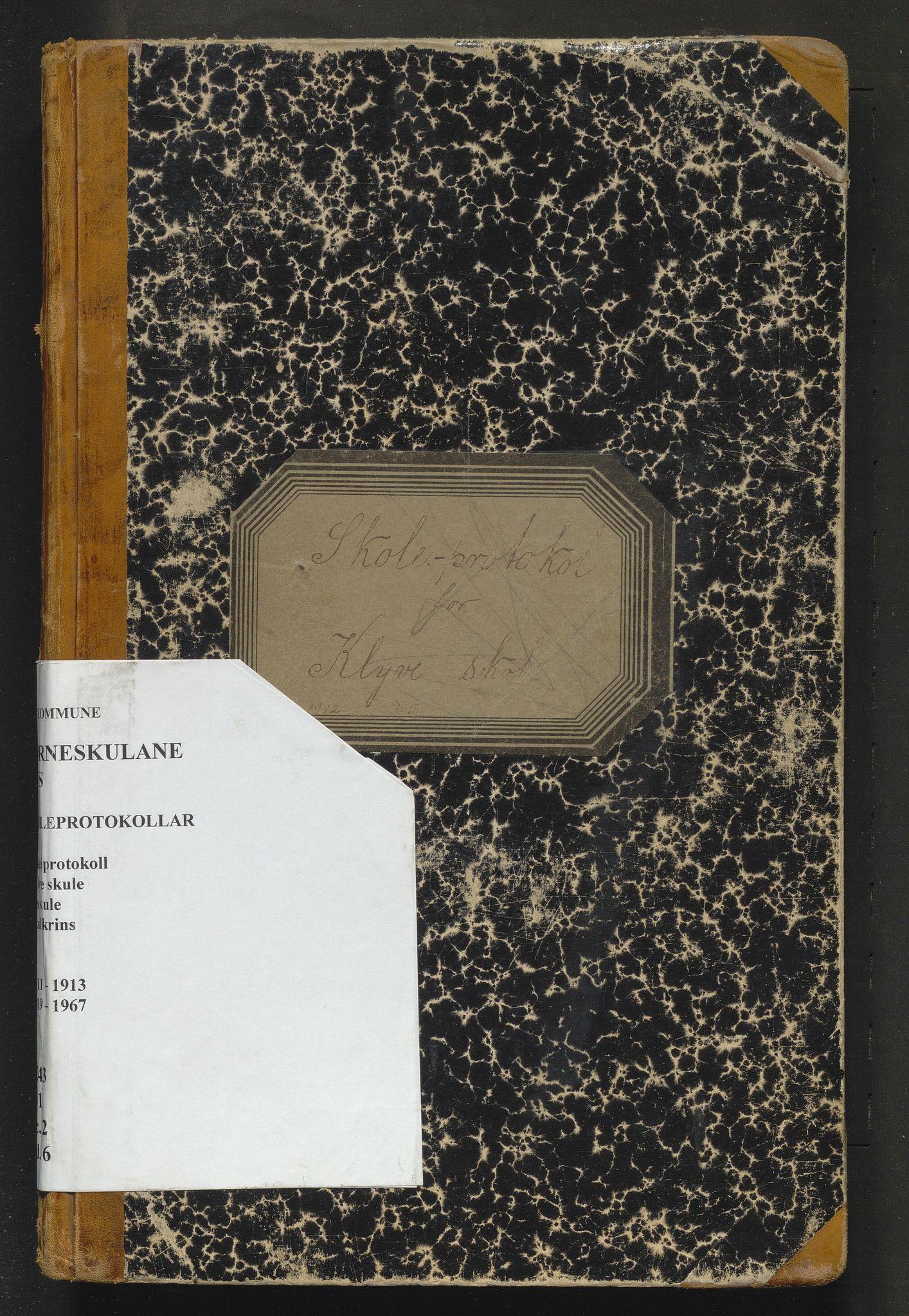 IKAH, Os kommune. Barneskulane, F/Fc/L0002: Skuleprotokoll for Klyve krins, 1911-1913