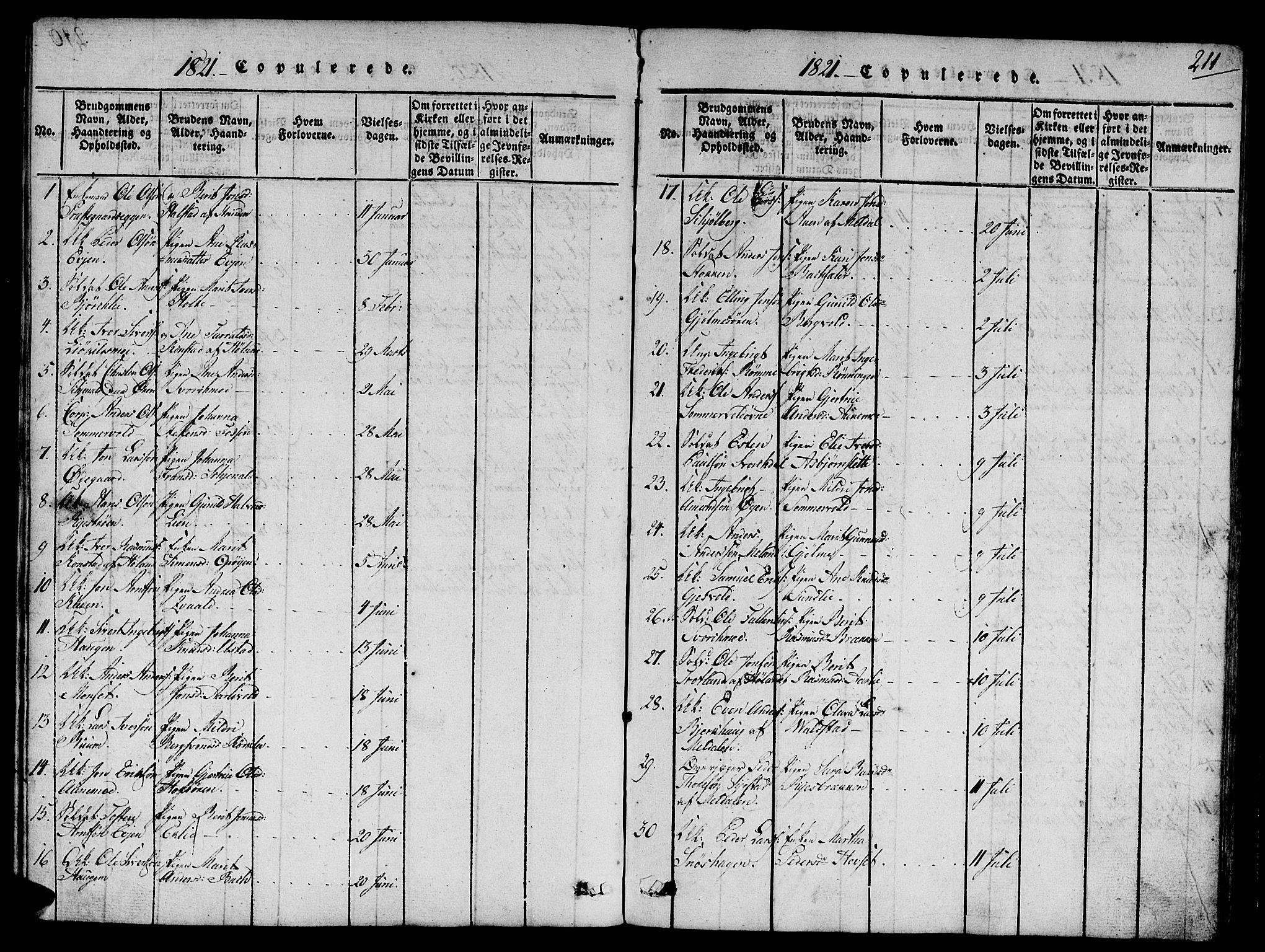 SAT, Ministerialprotokoller, klokkerbøker og fødselsregistre - Sør-Trøndelag, 668/L0803: Ministerialbok nr. 668A03, 1800-1826, s. 211