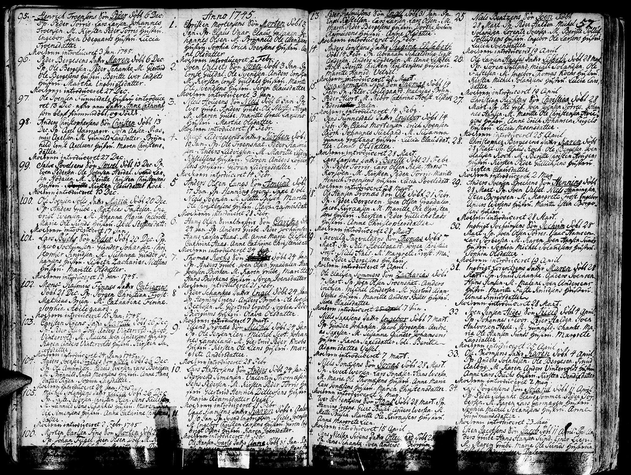 SAT, Ministerialprotokoller, klokkerbøker og fødselsregistre - Sør-Trøndelag, 681/L0925: Ministerialbok nr. 681A03, 1727-1766, s. 57