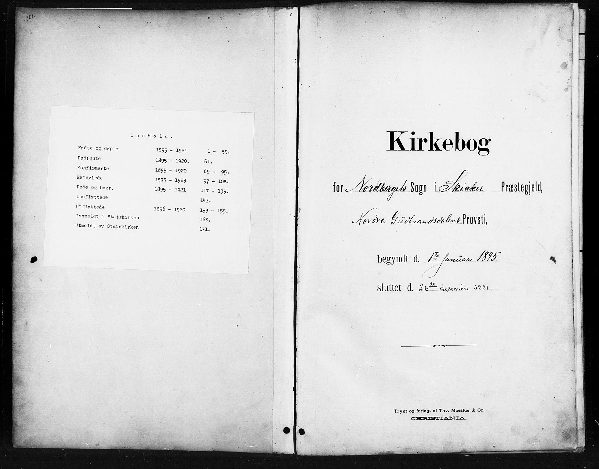 SAH, Skjåk prestekontor, Klokkerbok nr. 4, 1895-1921