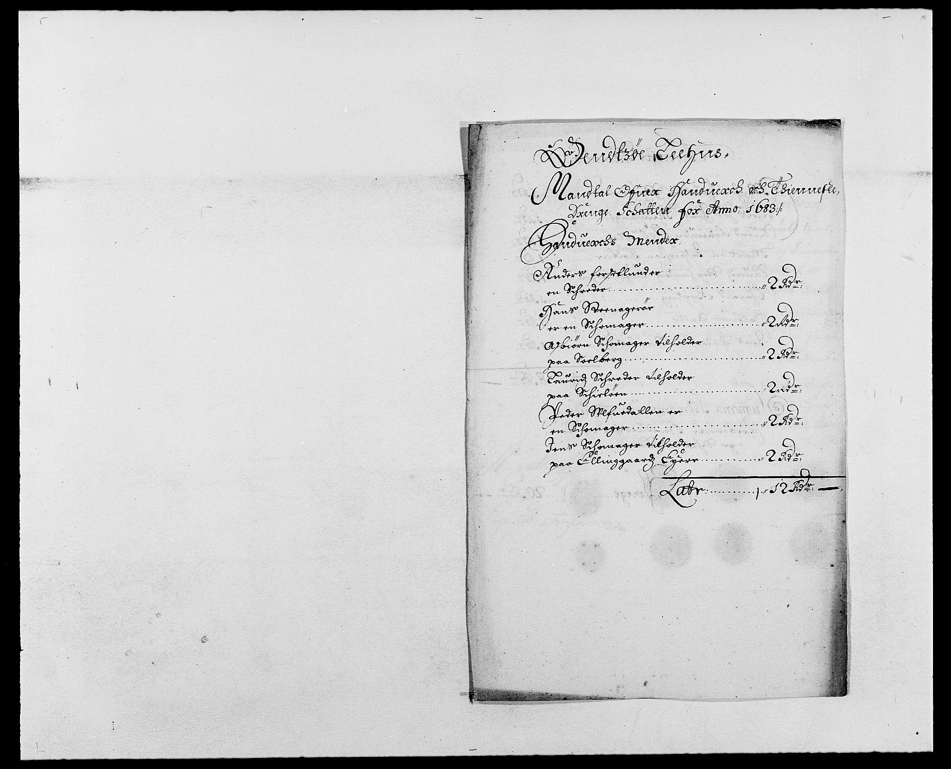 RA, Rentekammeret inntil 1814, Reviderte regnskaper, Fogderegnskap, R03/L0112: Fogderegnskap Onsøy, Tune, Veme og Åbygge fogderi, 1681-1683, s. 262