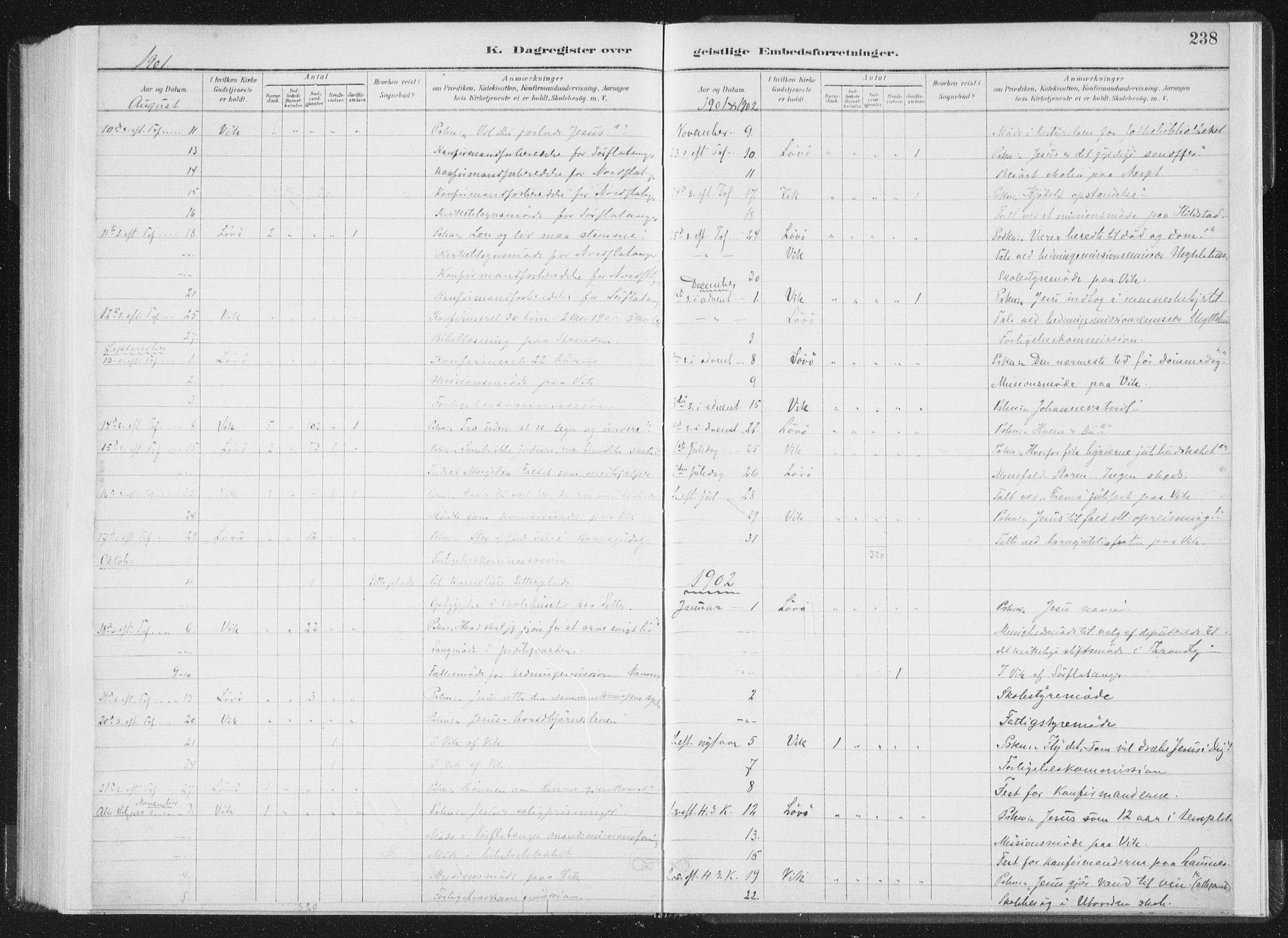SAT, Ministerialprotokoller, klokkerbøker og fødselsregistre - Nord-Trøndelag, 771/L0597: Ministerialbok nr. 771A04, 1885-1910, s. 238