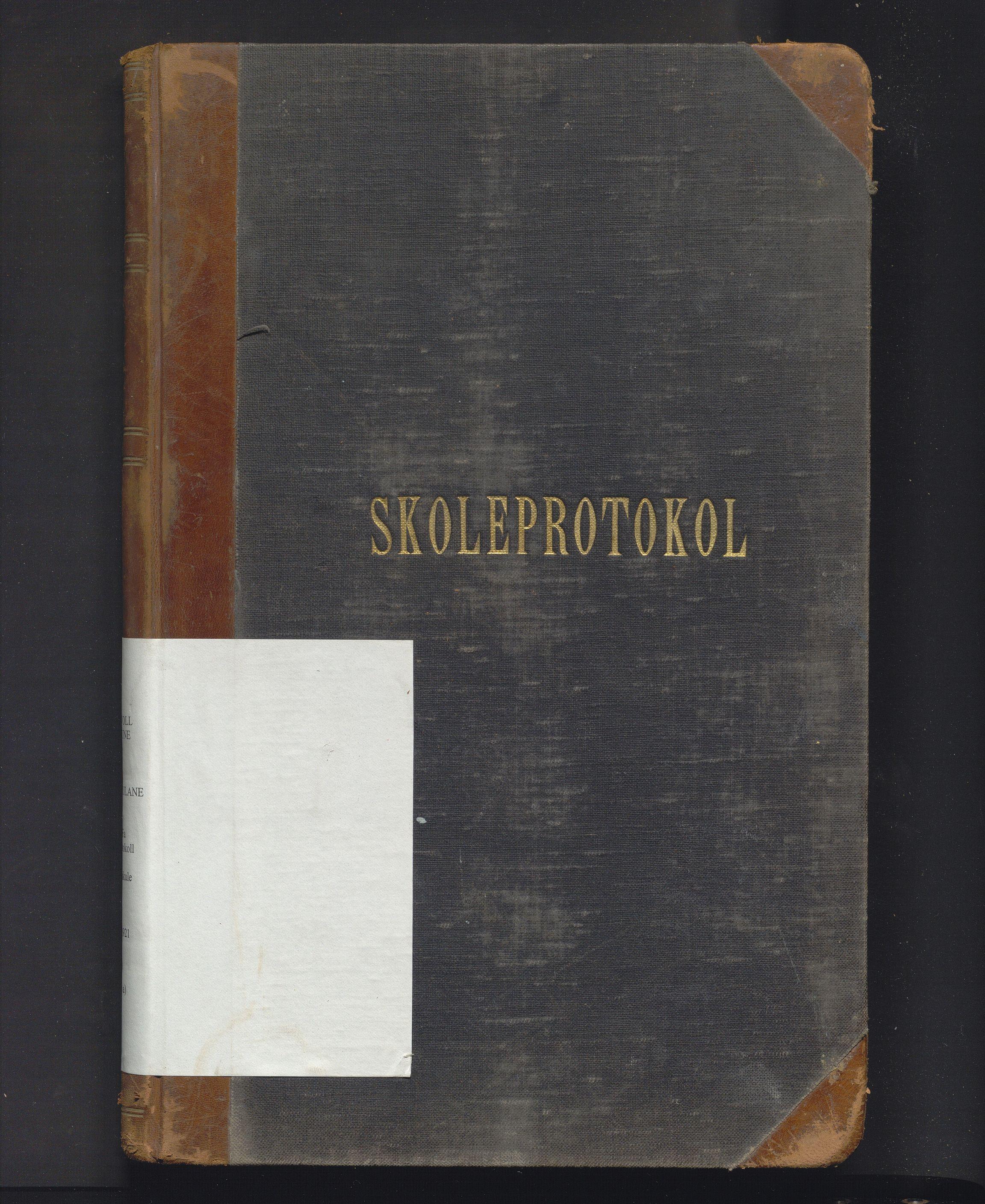 IKAH, Austevoll kommune. Barneskulane, F/Fa/L0011a: Skuleprotokoll for Storebø skule med dagbok, 1916-1921
