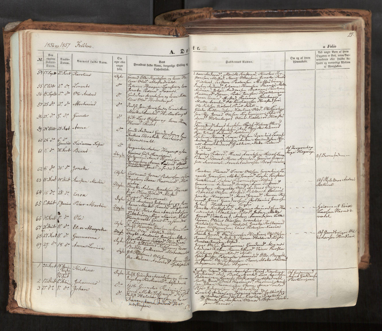 SAT, Ministerialprotokoller, klokkerbøker og fødselsregistre - Nord-Trøndelag, 713/L0116: Ministerialbok nr. 713A07, 1850-1877, s. 27