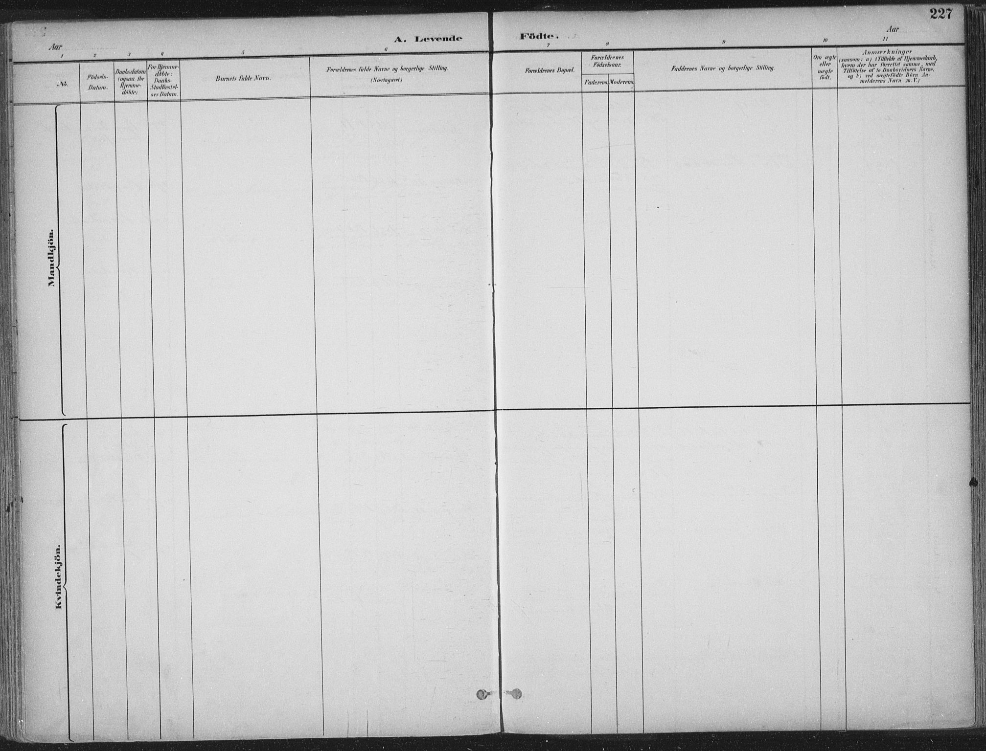 SAT, Ministerialprotokoller, klokkerbøker og fødselsregistre - Sør-Trøndelag, 601/L0062: Ministerialbok nr. 601A30, 1891-1911, s. 227
