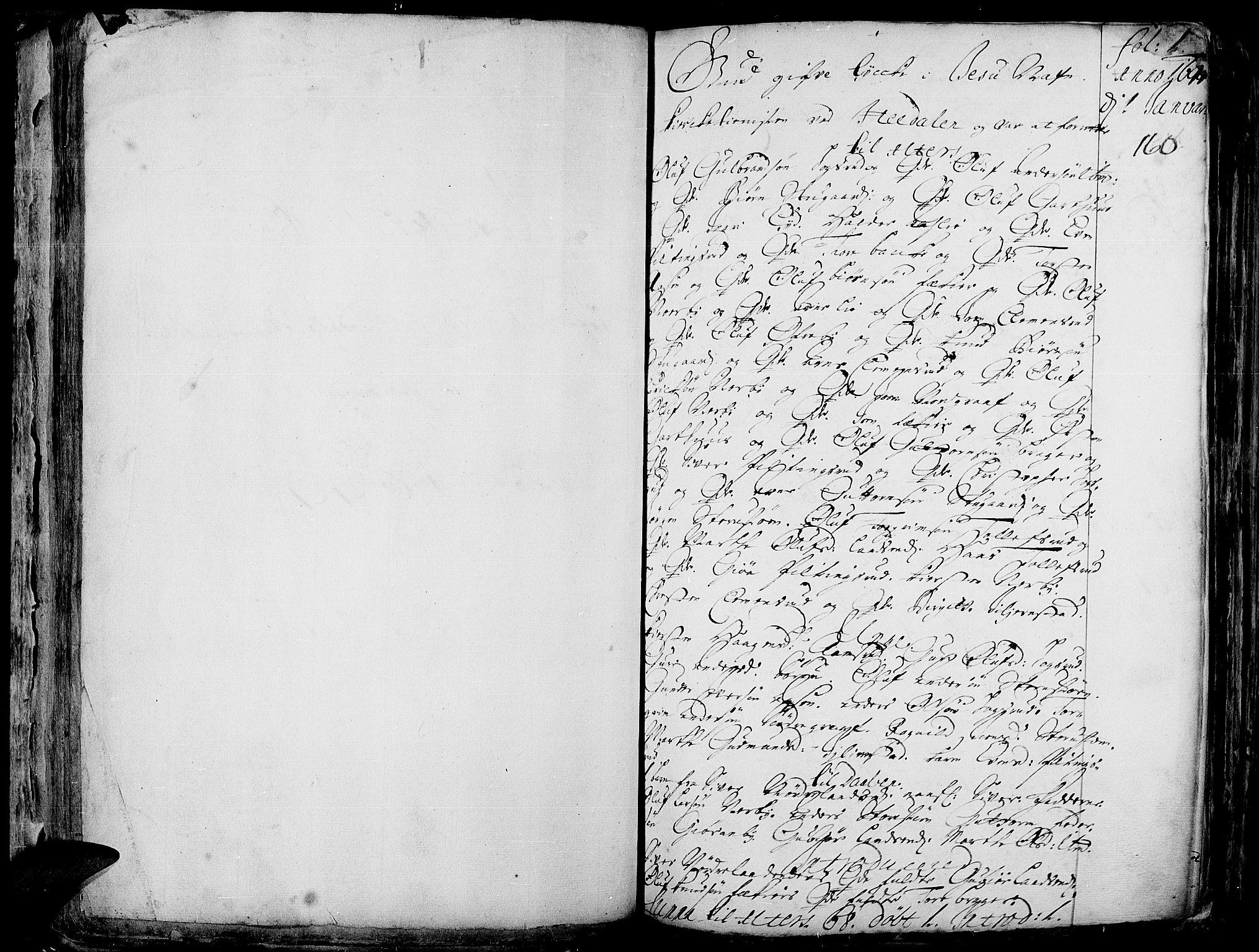 SAH, Aurdal prestekontor, Ministerialbok nr. 1-3, 1692-1730, s. 160