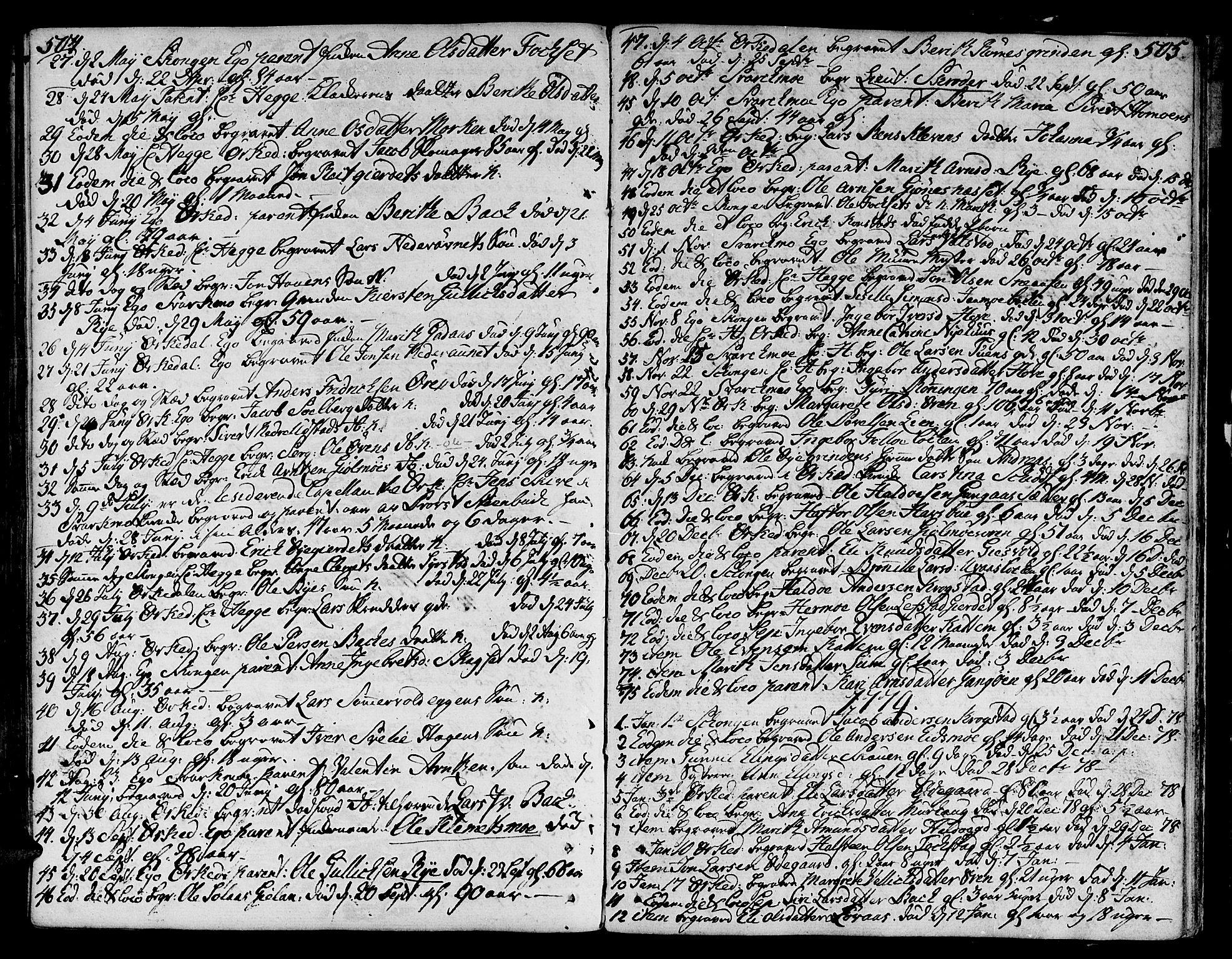 SAT, Ministerialprotokoller, klokkerbøker og fødselsregistre - Sør-Trøndelag, 668/L0802: Ministerialbok nr. 668A02, 1776-1799, s. 504-505