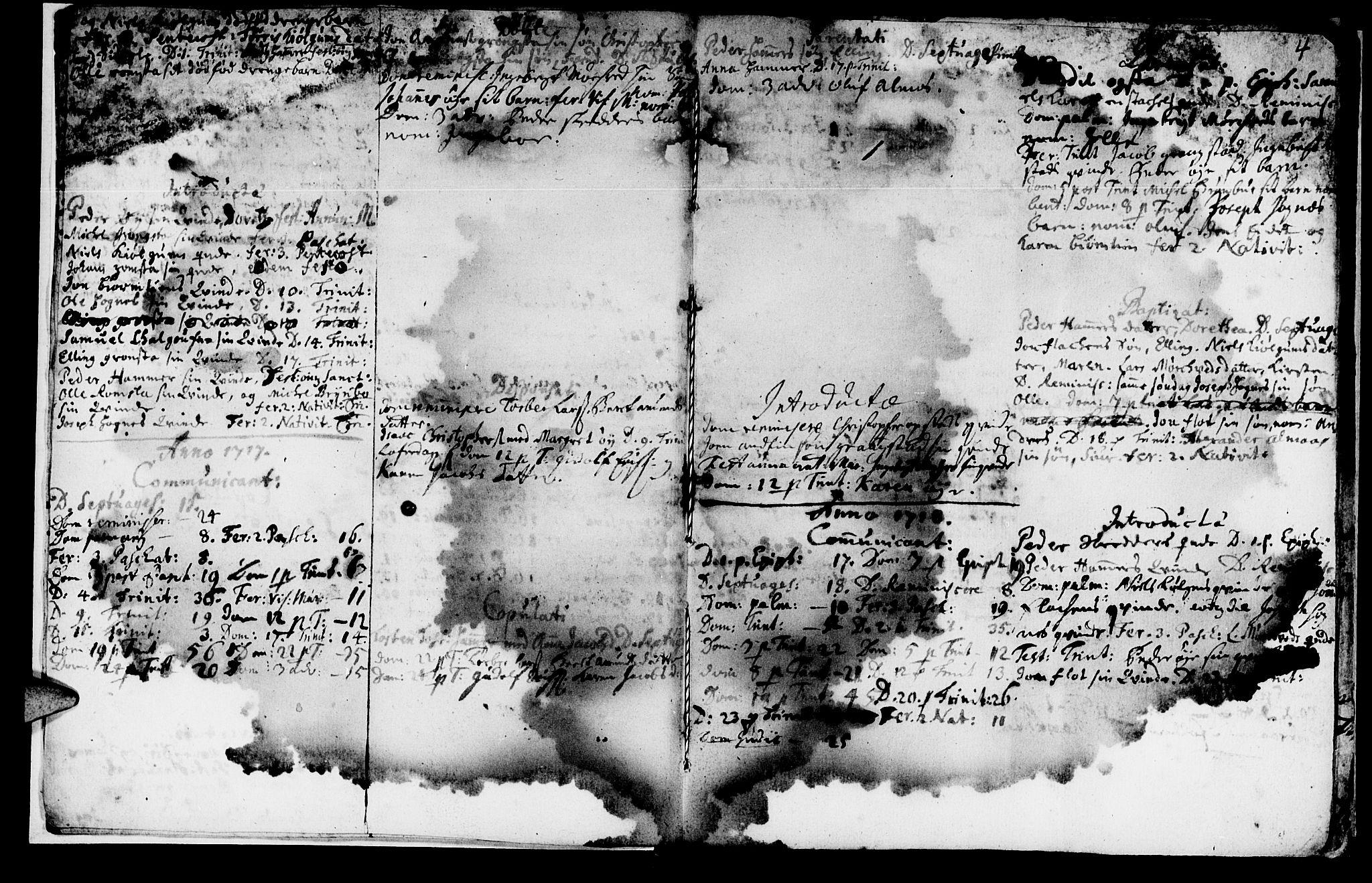 SAT, Ministerialprotokoller, klokkerbøker og fødselsregistre - Nord-Trøndelag, 765/L0560: Ministerialbok nr. 765A01, 1706-1748, s. 4
