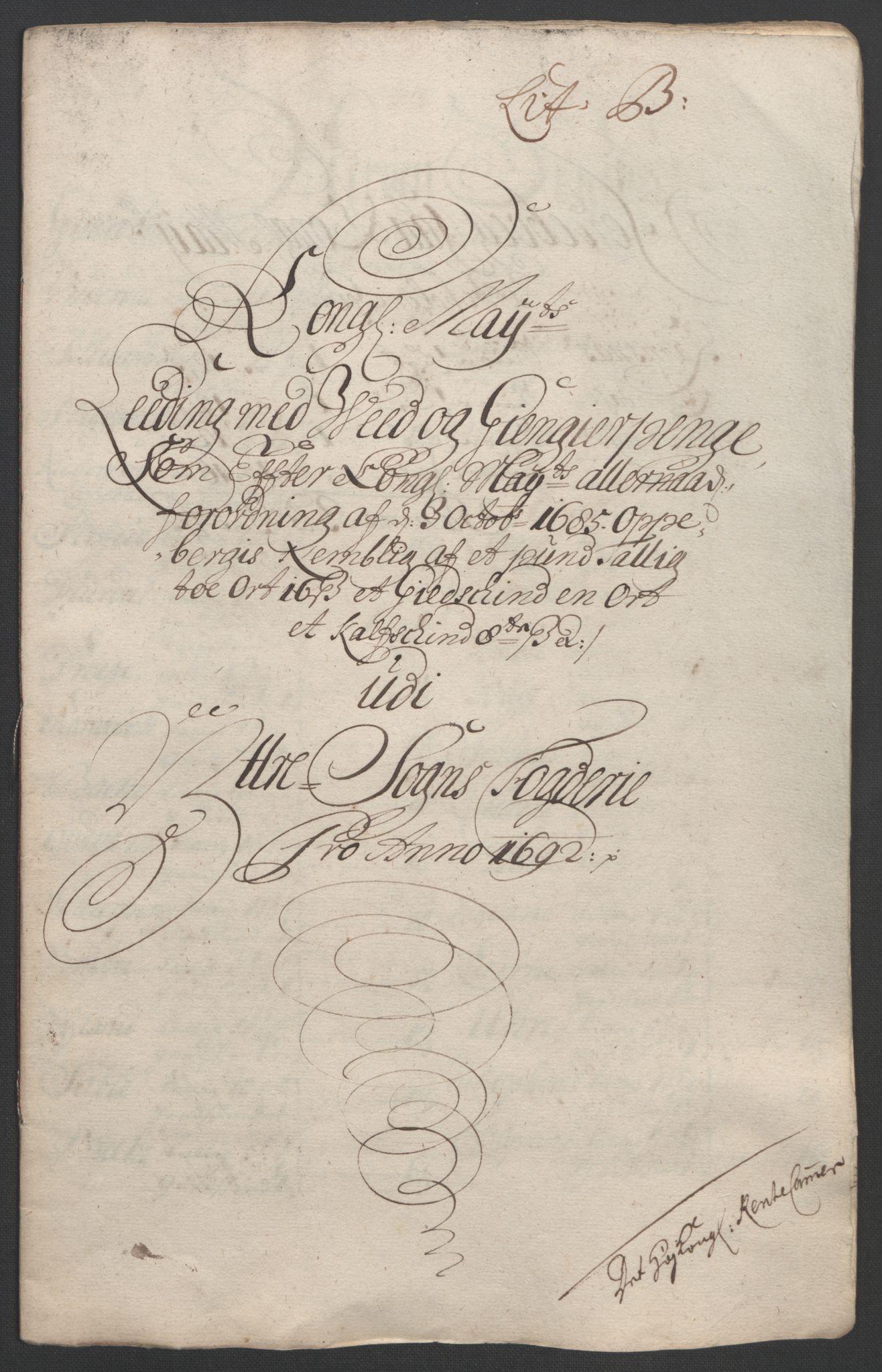 RA, Rentekammeret inntil 1814, Reviderte regnskaper, Fogderegnskap, R52/L3306: Fogderegnskap Sogn, 1691-1692, s. 305