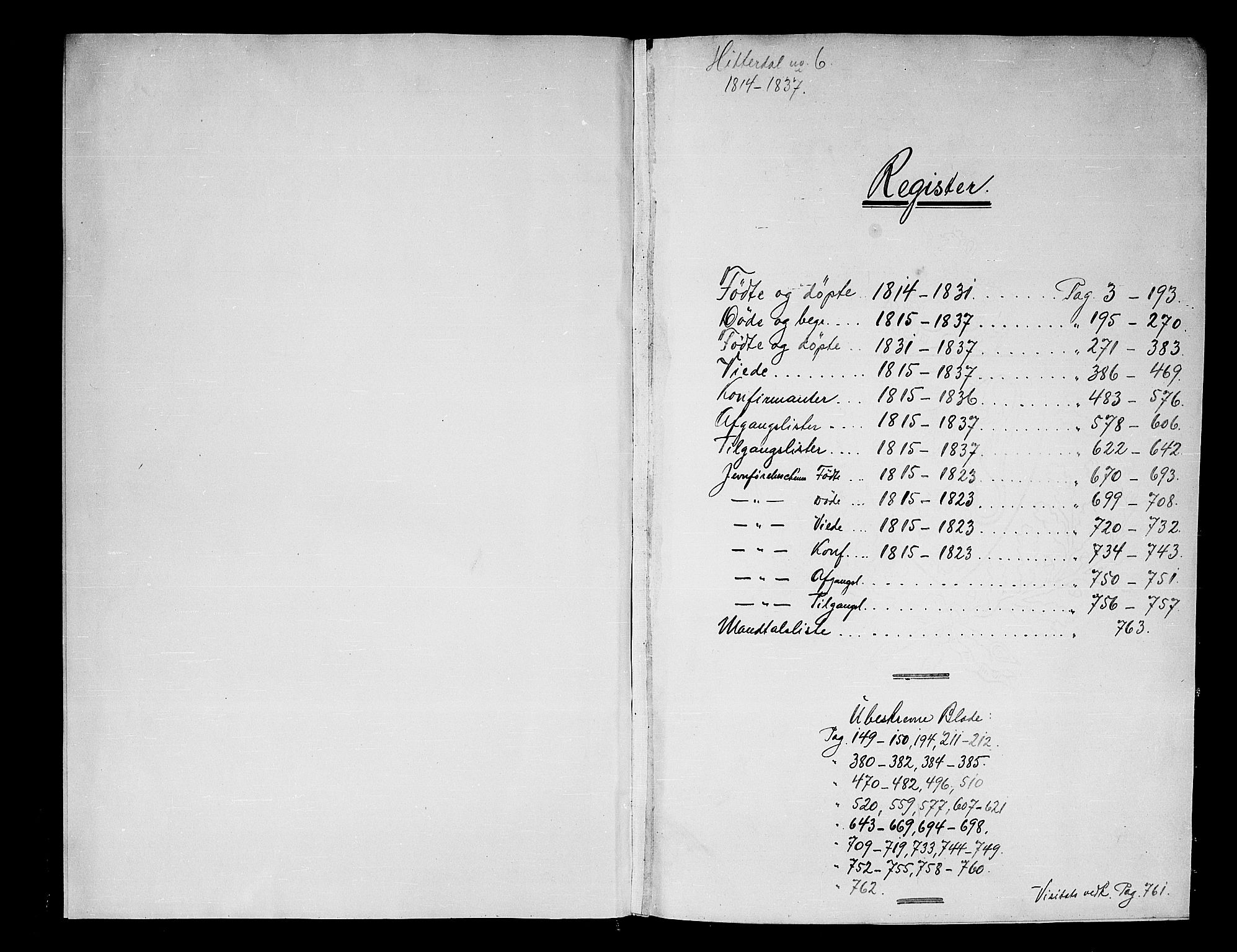 SAKO, Heddal kirkebøker, F/Fa/L0005: Ministerialbok nr. I 5, 1814-1837