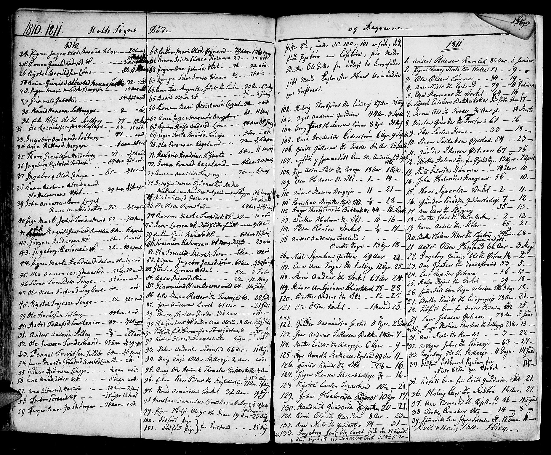 SAK, Holt sokneprestkontor, F/Fa/L0004: Ministerialbok nr. A 4, 1799-1813, s. 87