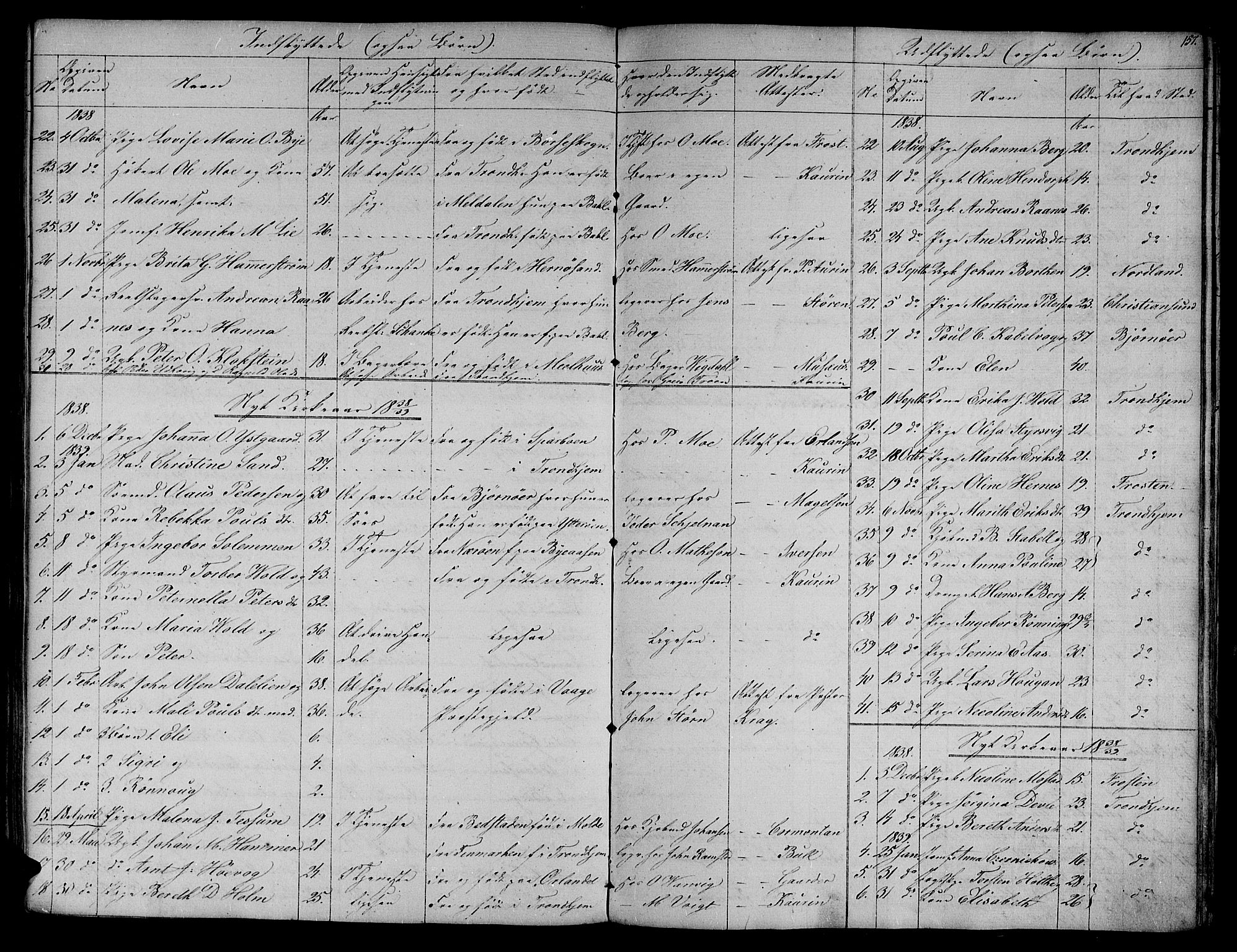 SAT, Ministerialprotokoller, klokkerbøker og fødselsregistre - Sør-Trøndelag, 604/L0182: Ministerialbok nr. 604A03, 1818-1850, s. 157