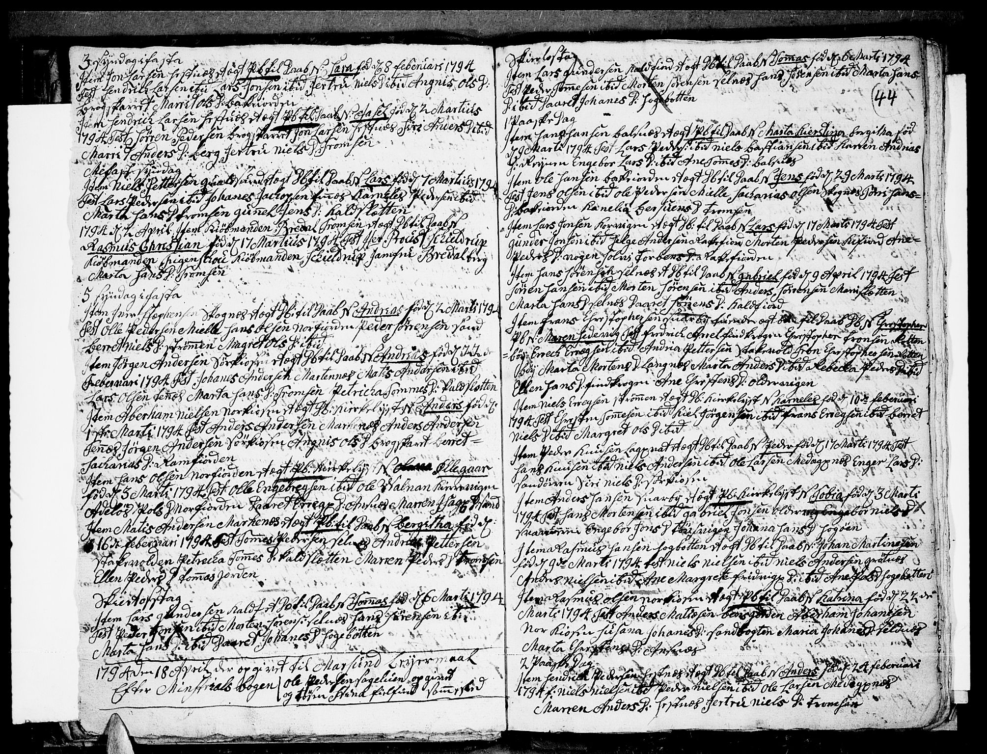 SATØ, Tromsø sokneprestkontor/stiftsprosti/domprosti, G/Ga/L0004kirke: Ministerialbok nr. 4, 1787-1795, s. 44
