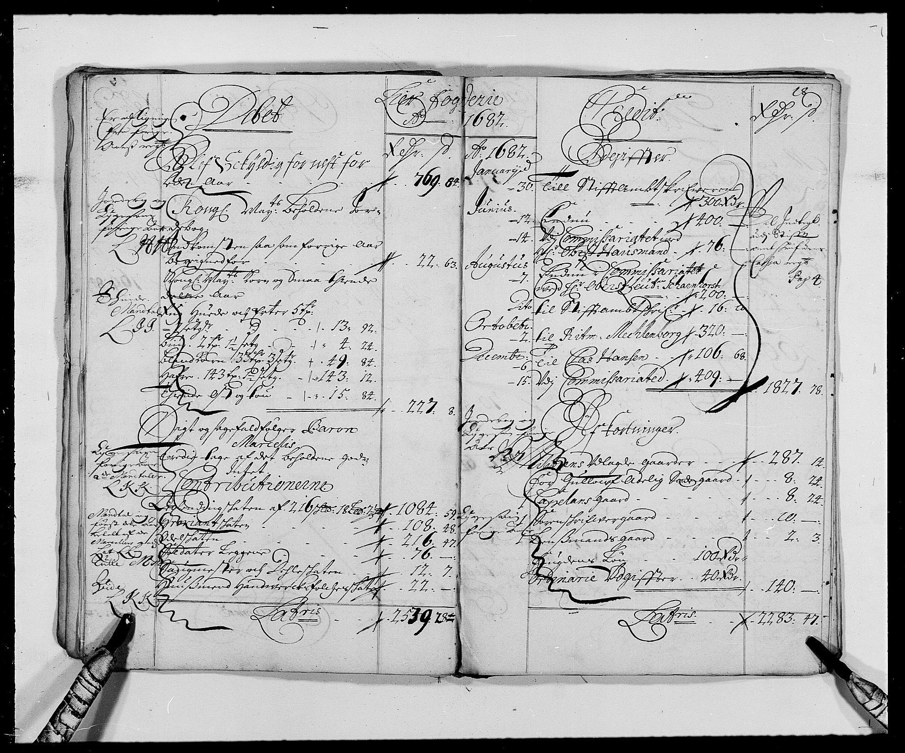 RA, Rentekammeret inntil 1814, Reviderte regnskaper, Fogderegnskap, R27/L1686: Fogderegnskap Lier, 1678-1686, s. 21
