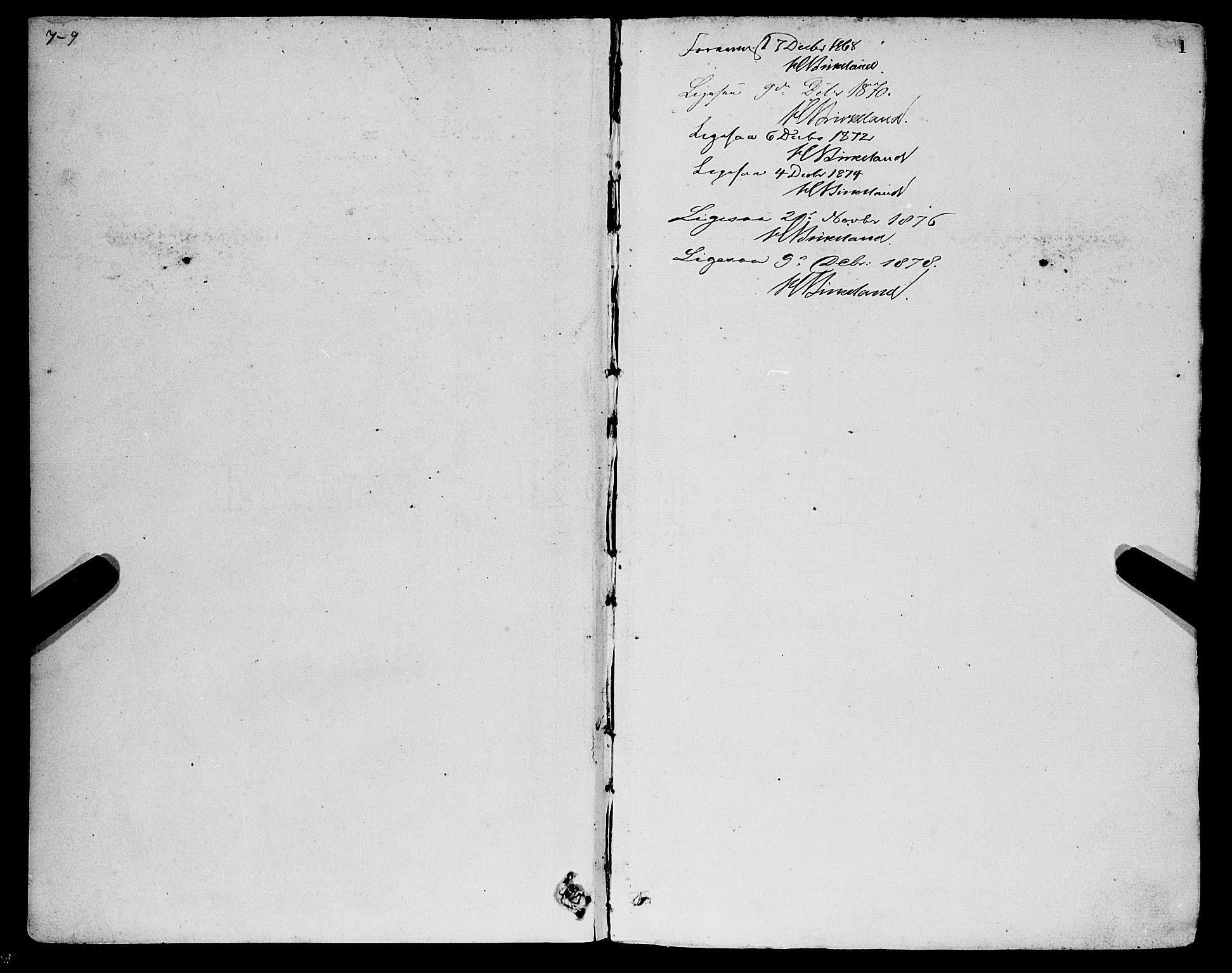 SAB, Sandviken Sokneprestembete, H/Ha/L0001: Ministerialbok nr. A 1, 1867-1877, s. 1