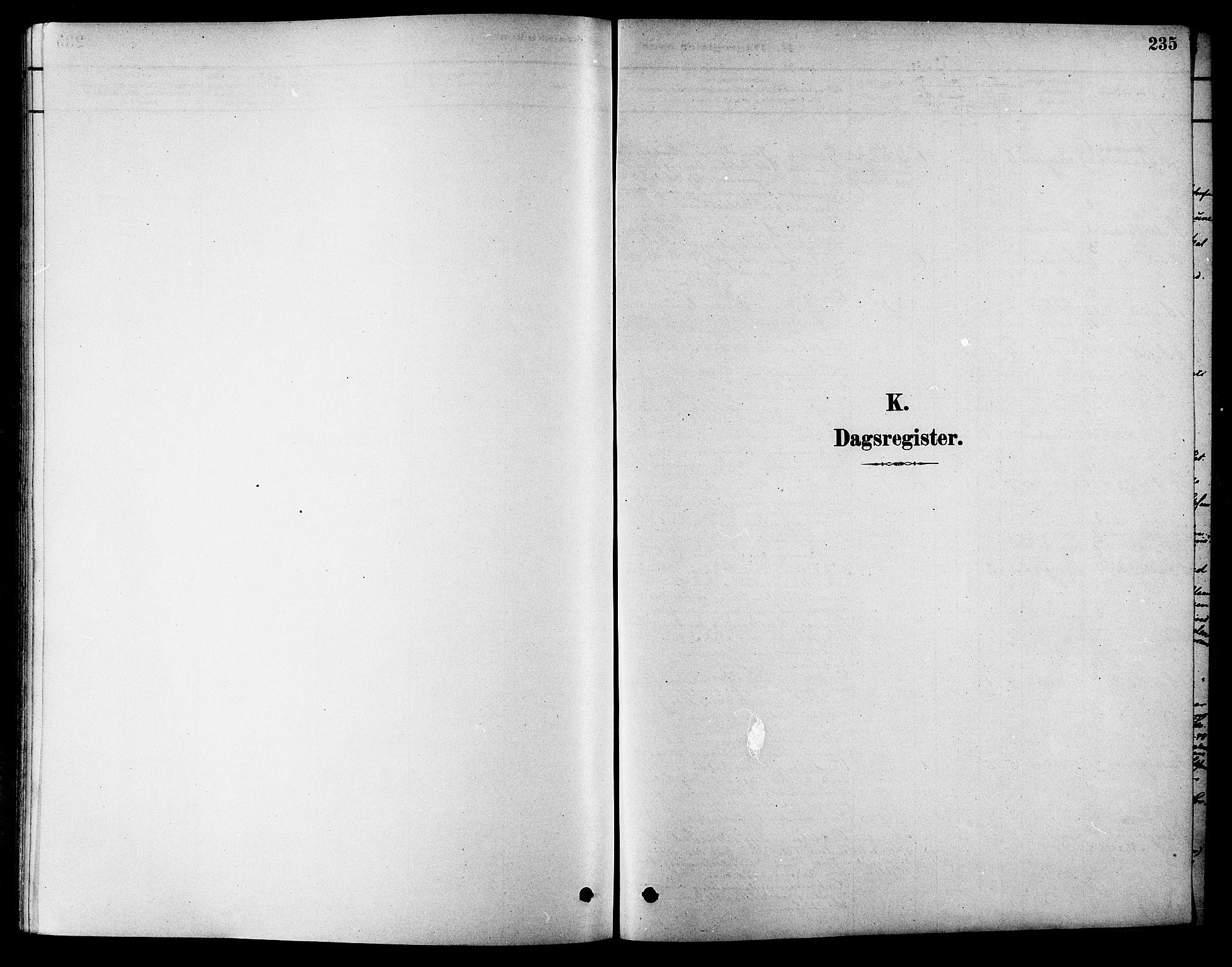SAT, Ministerialprotokoller, klokkerbøker og fødselsregistre - Sør-Trøndelag, 686/L0983: Ministerialbok nr. 686A01, 1879-1890, s. 235