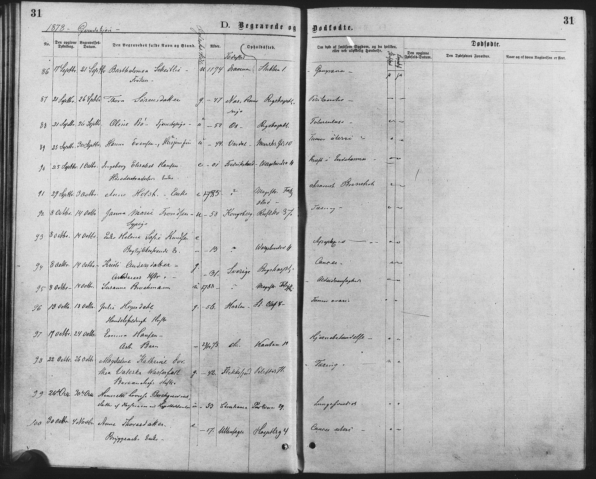 SAO, Trefoldighet prestekontor Kirkebøker, F/Fd/L0002: Ministerialbok nr. IV 2, 1877-1885, s. 31