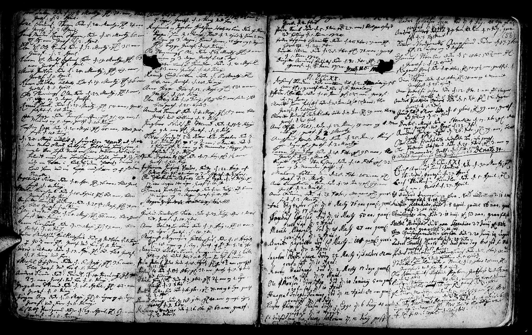 SAT, Ministerialprotokoller, klokkerbøker og fødselsregistre - Nord-Trøndelag, 746/L0439: Ministerialbok nr. 746A01, 1688-1759, s. 58