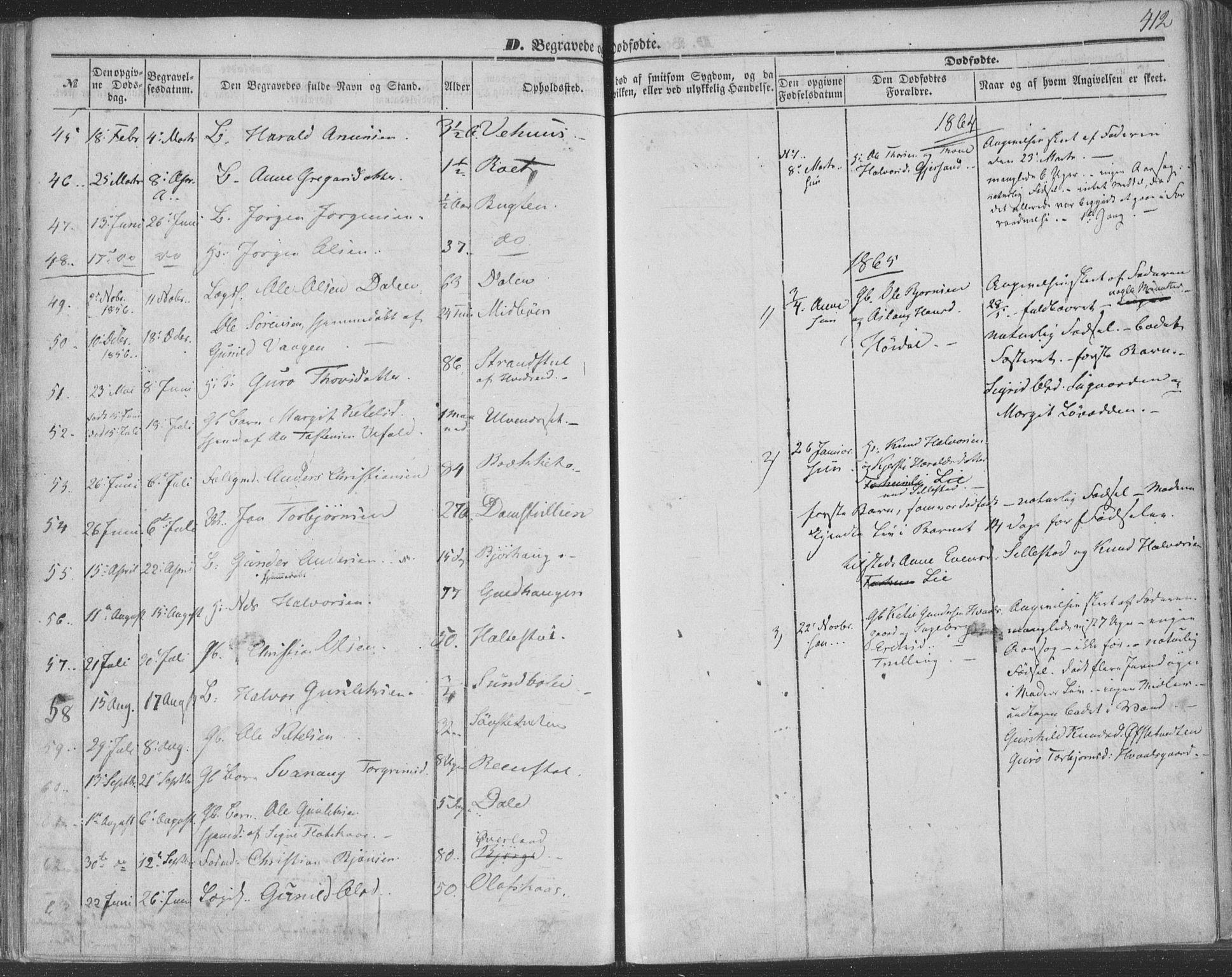 SAKO, Seljord kirkebøker, F/Fa/L012b: Ministerialbok nr. I 12B, 1850-1865, s. 412
