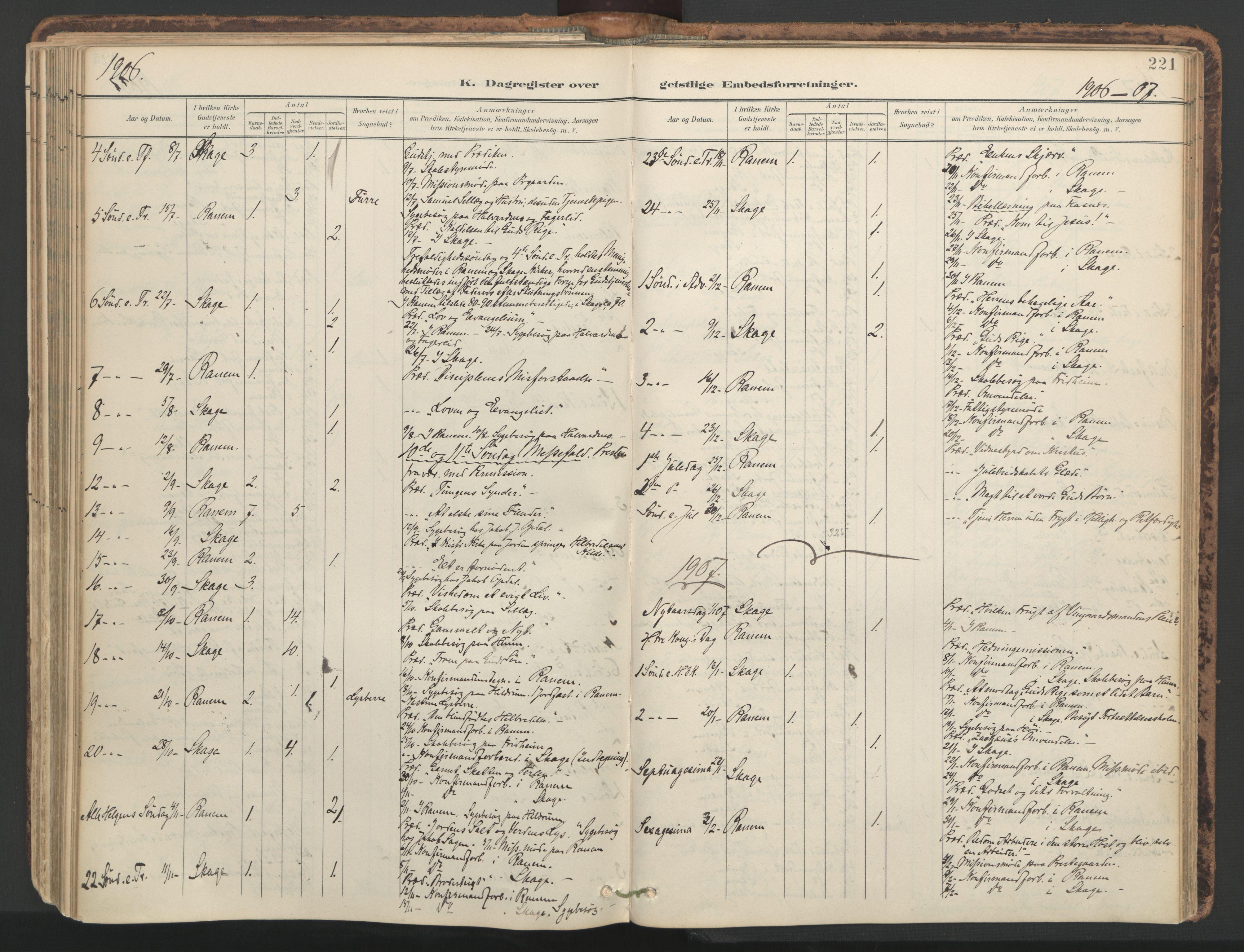 SAT, Ministerialprotokoller, klokkerbøker og fødselsregistre - Nord-Trøndelag, 764/L0556: Ministerialbok nr. 764A11, 1897-1924, s. 221