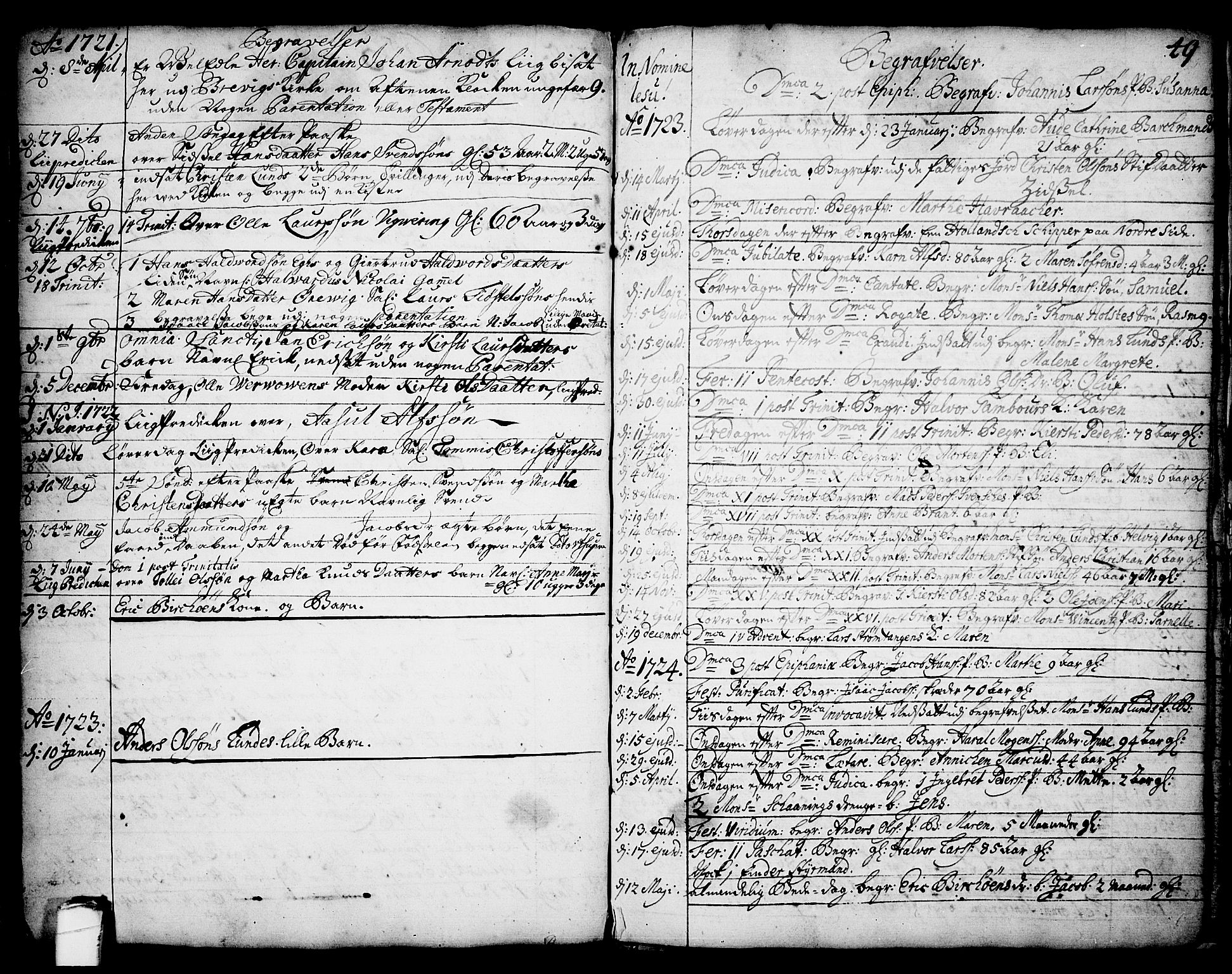 SAKO, Brevik kirkebøker, F/Fa/L0002: Ministerialbok nr. 2, 1720-1764, s. 49