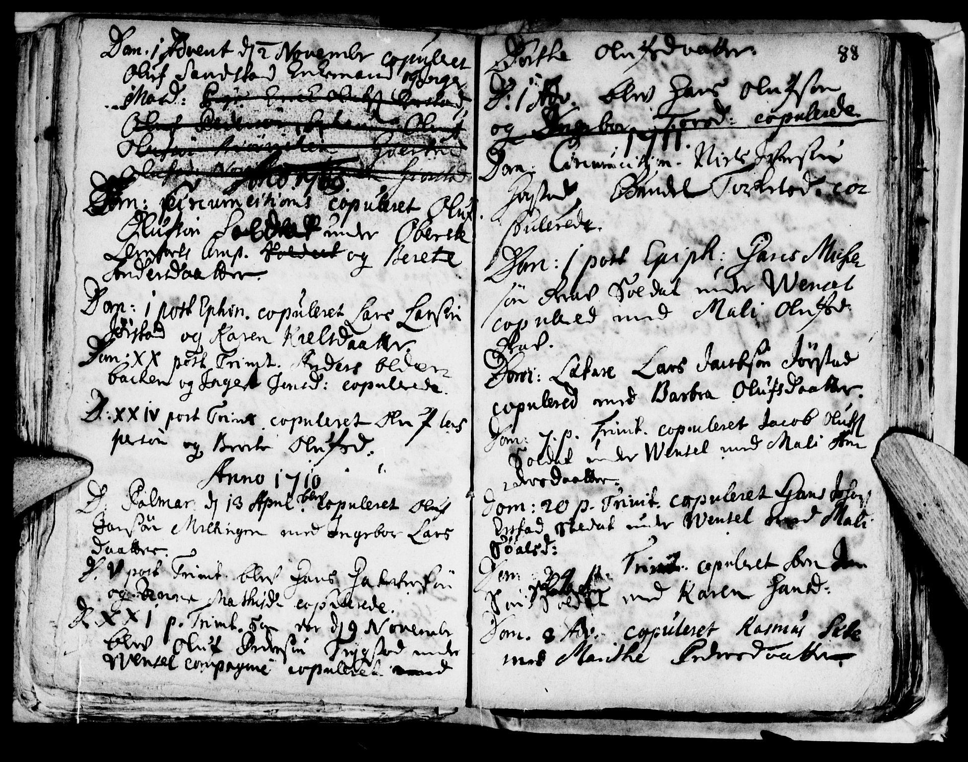 SAT, Ministerialprotokoller, klokkerbøker og fødselsregistre - Nord-Trøndelag, 722/L0214: Ministerialbok nr. 722A01, 1692-1718, s. 88