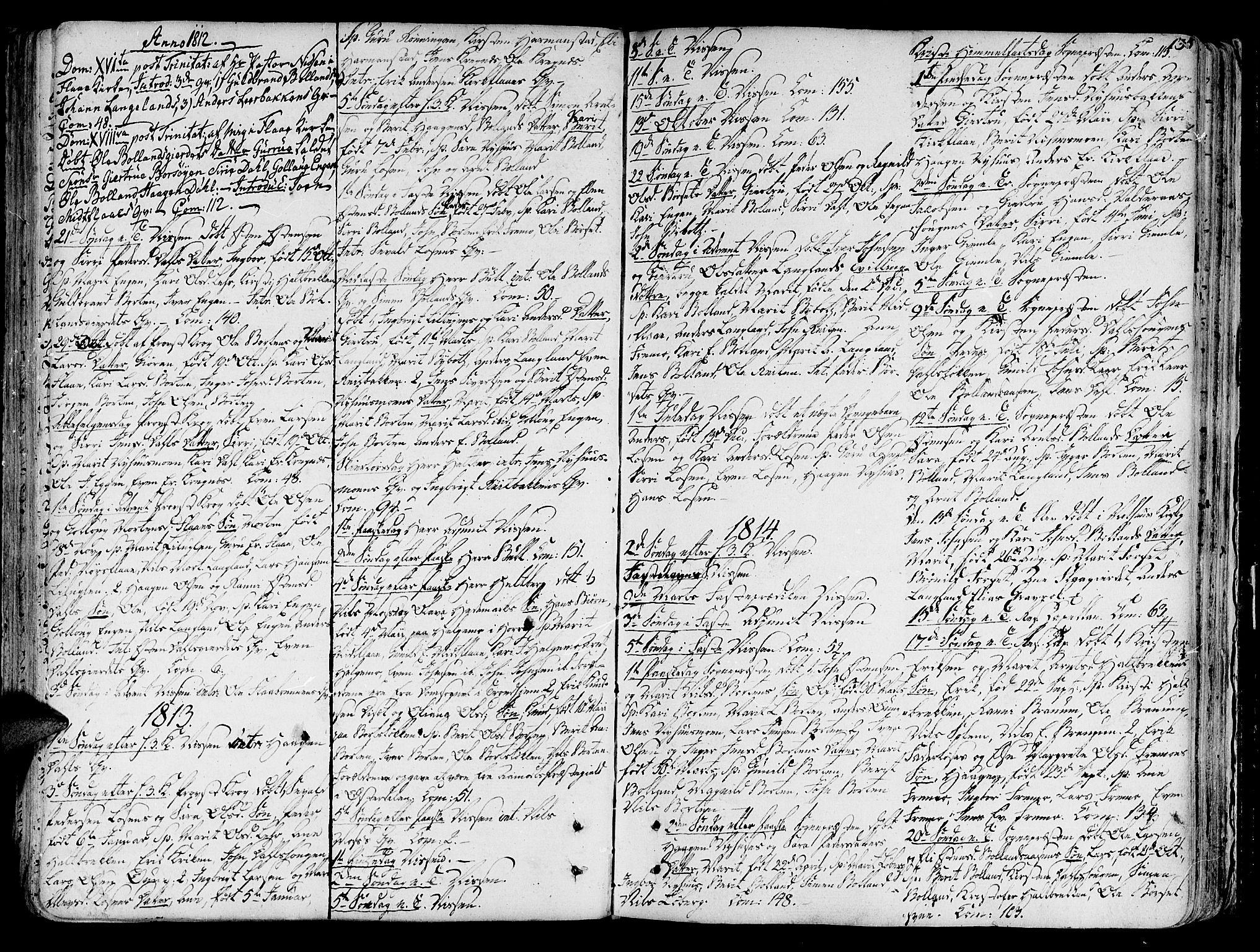 SAT, Ministerialprotokoller, klokkerbøker og fødselsregistre - Sør-Trøndelag, 691/L1062: Ministerialbok nr. 691A02 /2, 1768-1815, s. 135