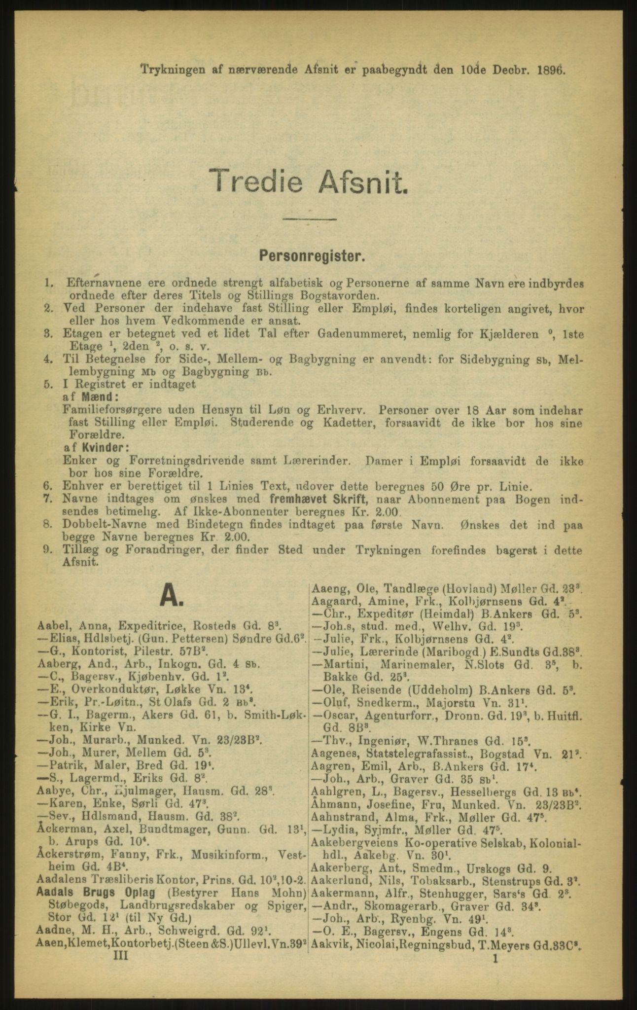 PUBL, Kristiania/Oslo adressebok, 1897, s. 101