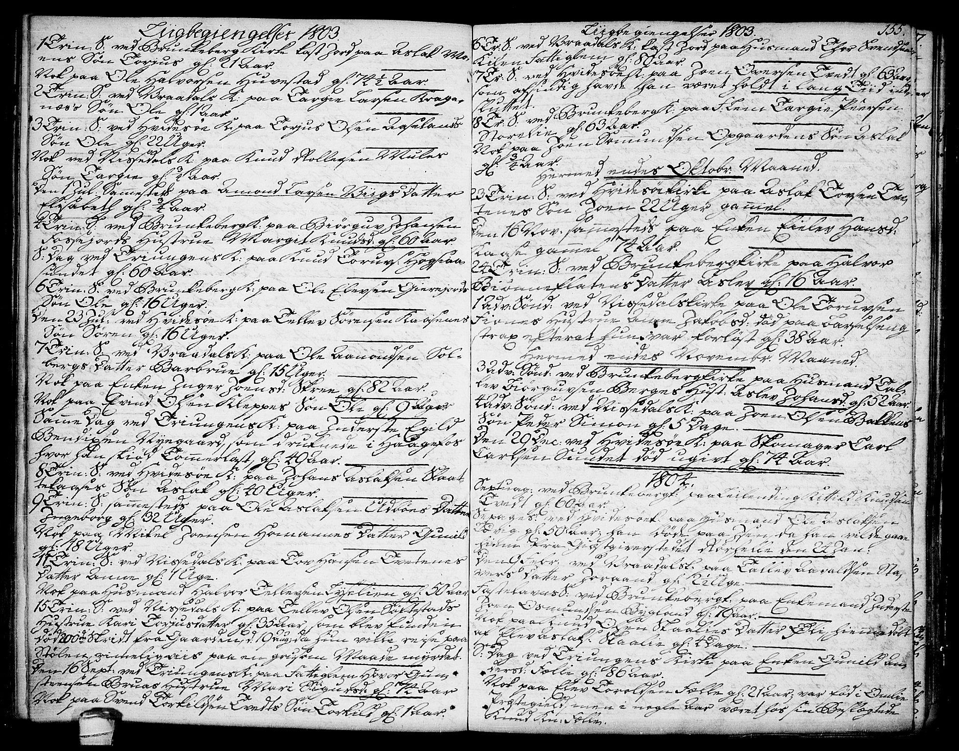 SAKO, Kviteseid kirkebøker, F/Fa/L0004: Ministerialbok nr. I 4, 1800-1814, s. 155