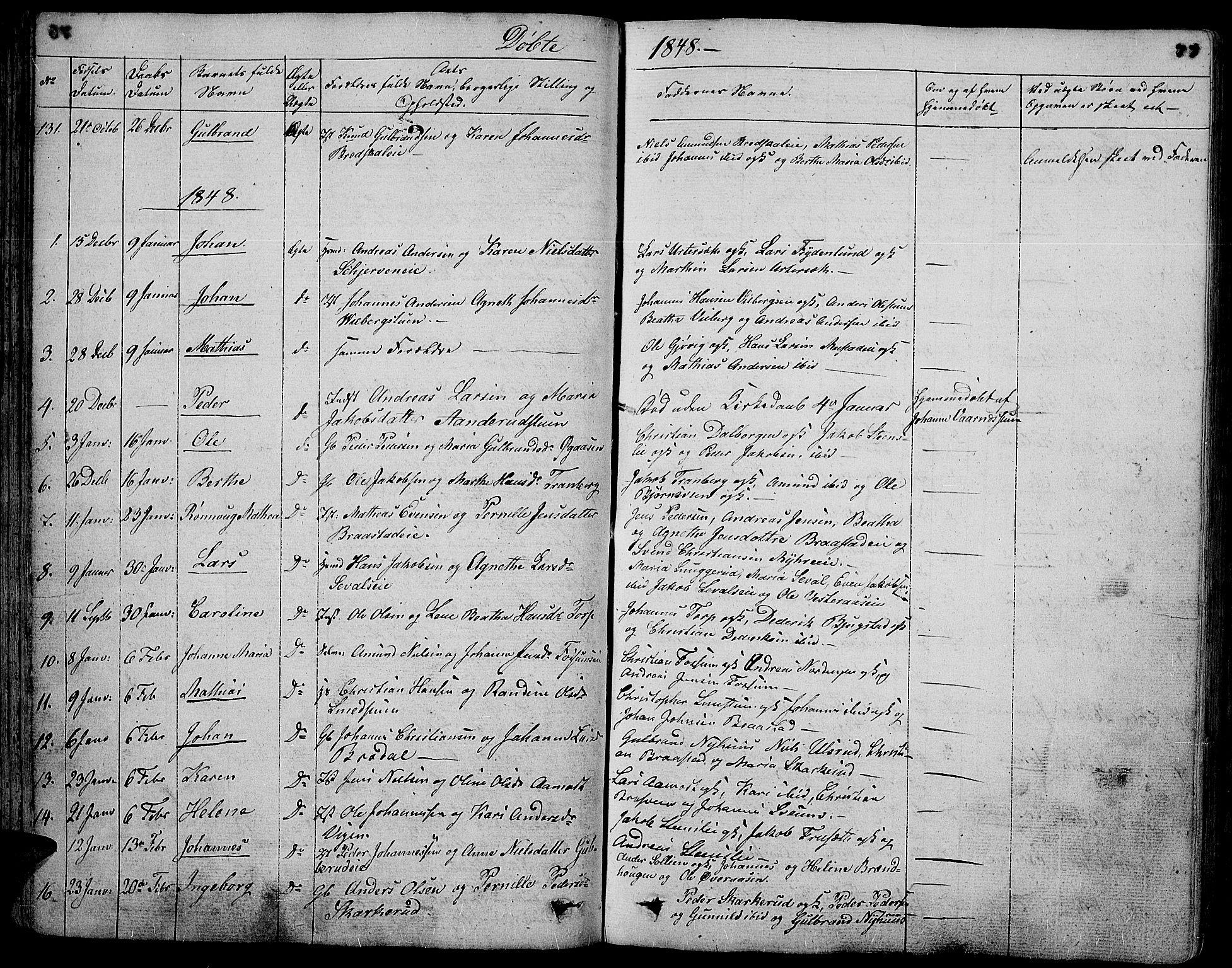 SAH, Vardal prestekontor, H/Ha/Hab/L0004: Klokkerbok nr. 4, 1831-1853, s. 77